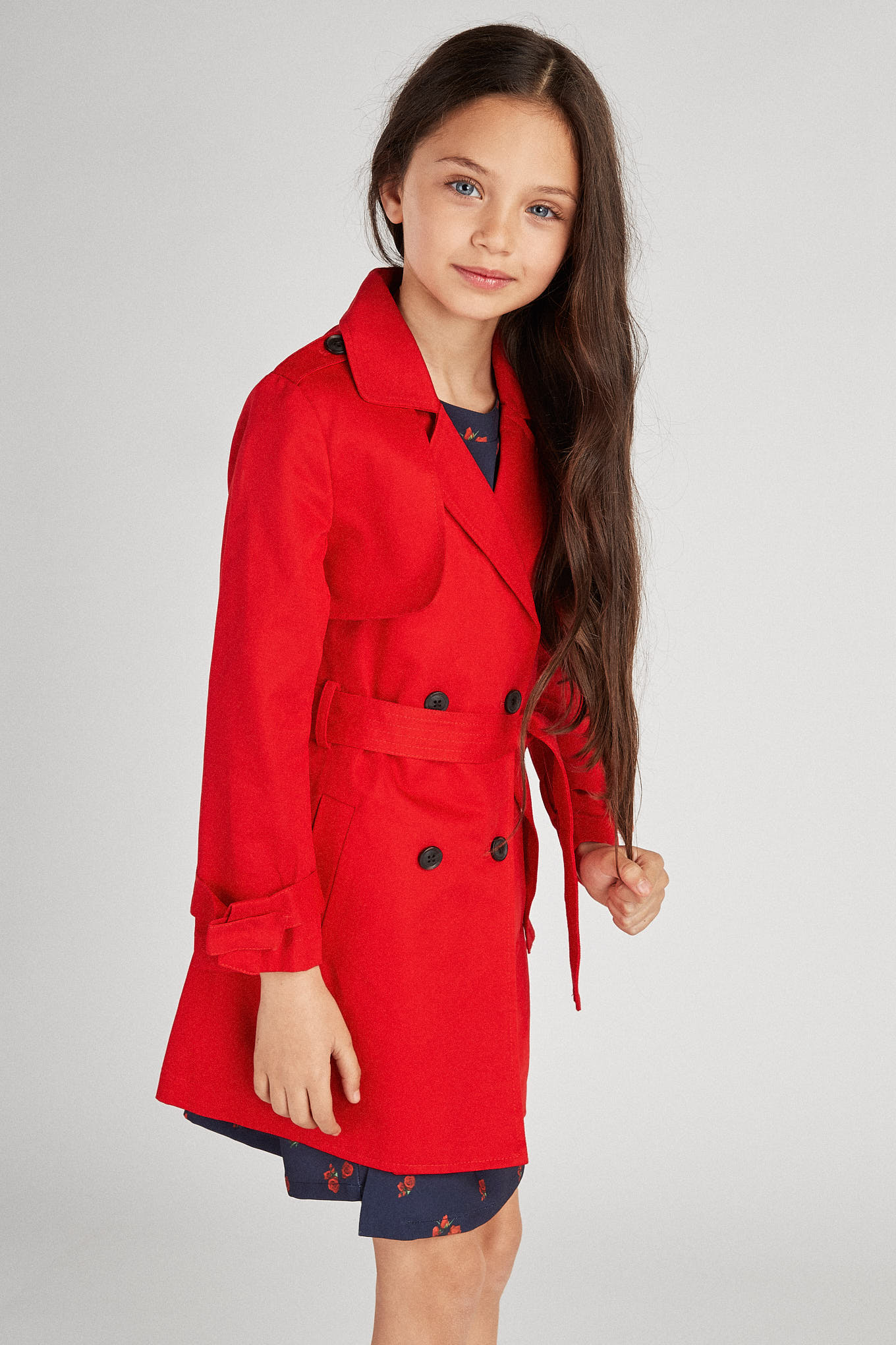 Raincoat Red Sport Girl