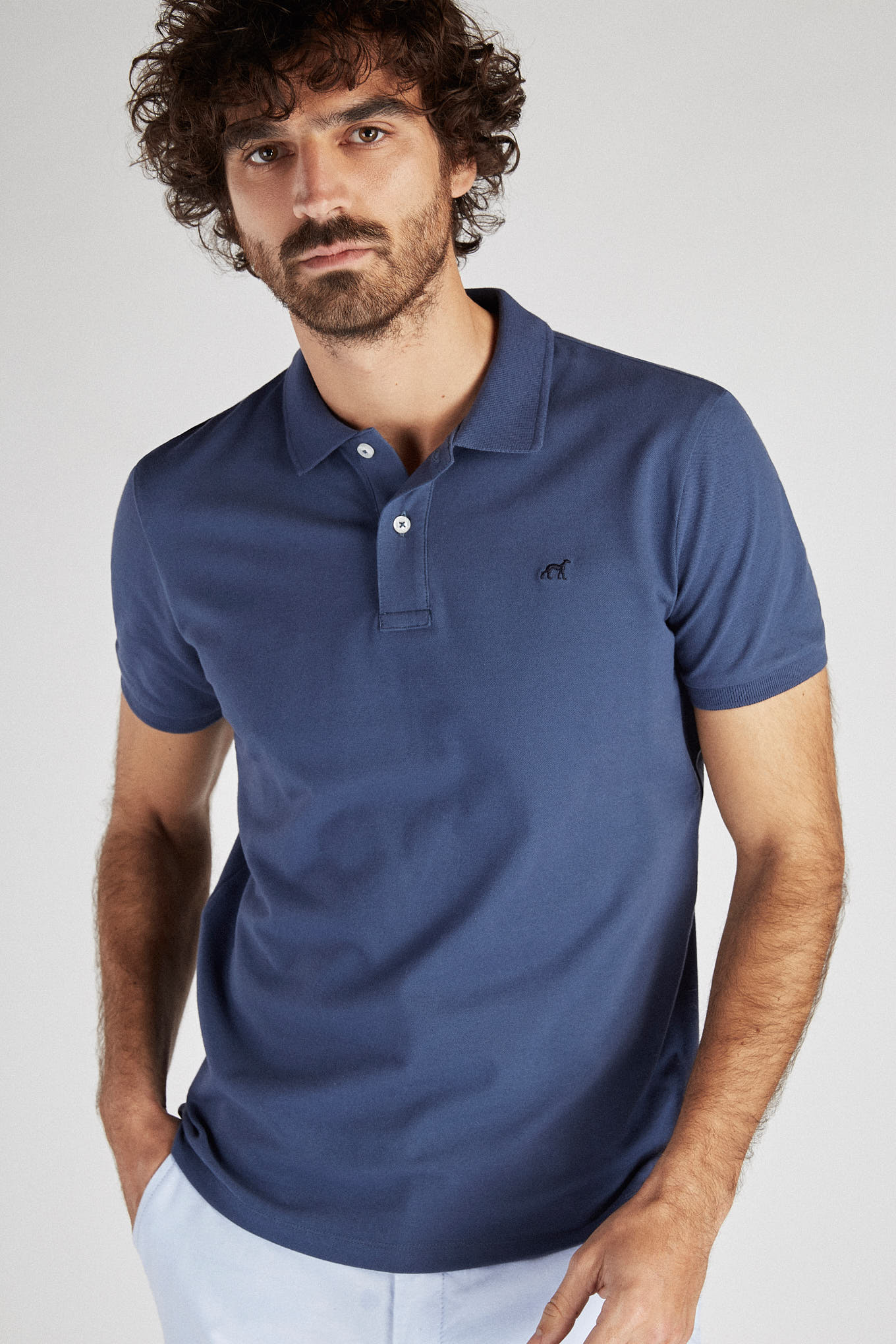 Polo Piquet Medium Blue Sport Man