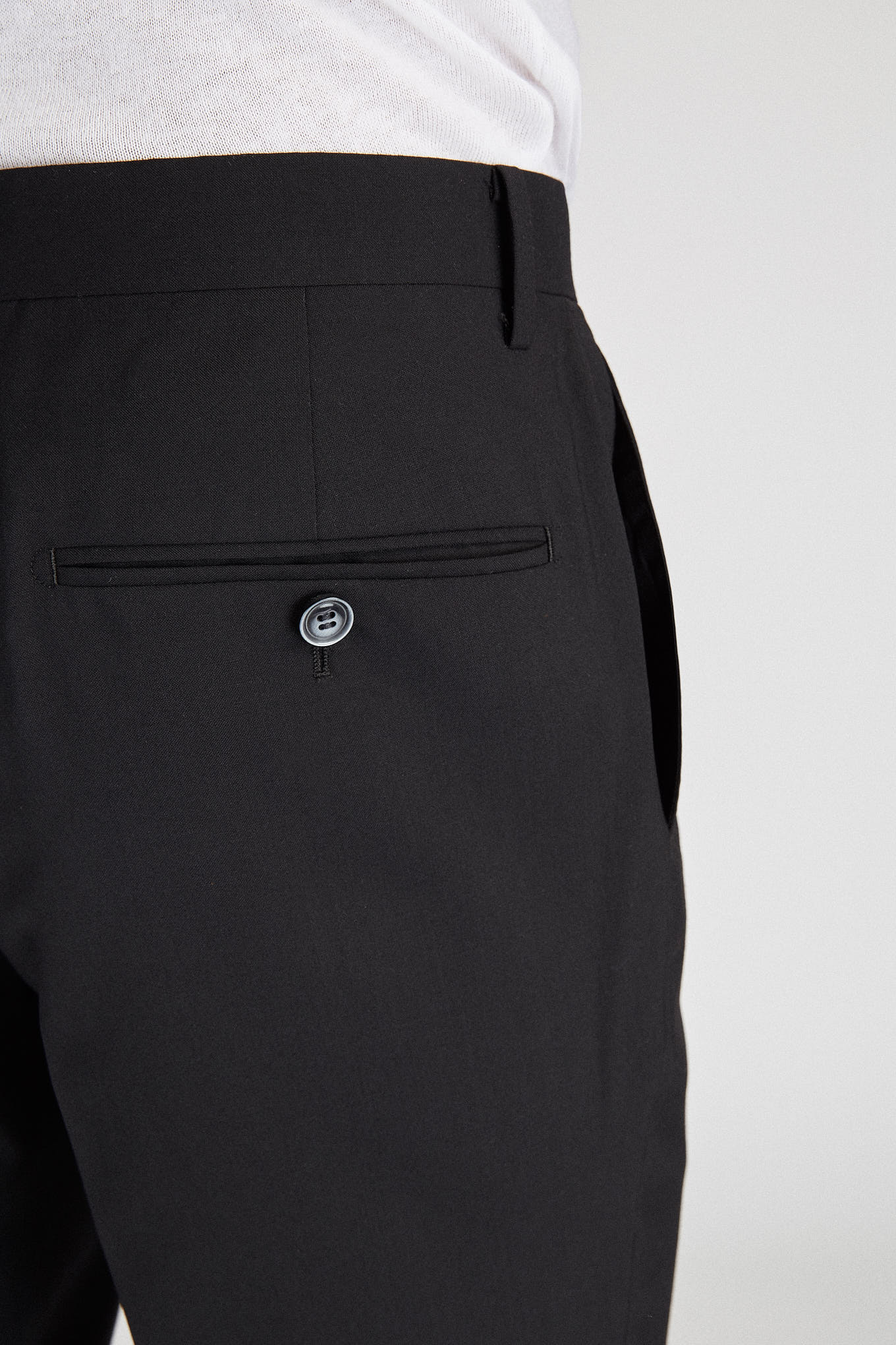 Trousers Black Classic Man