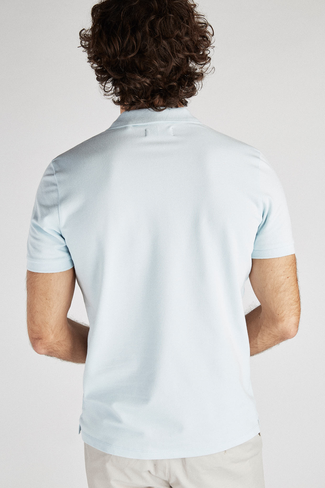 Polo Piquet Light Blue Sport Man