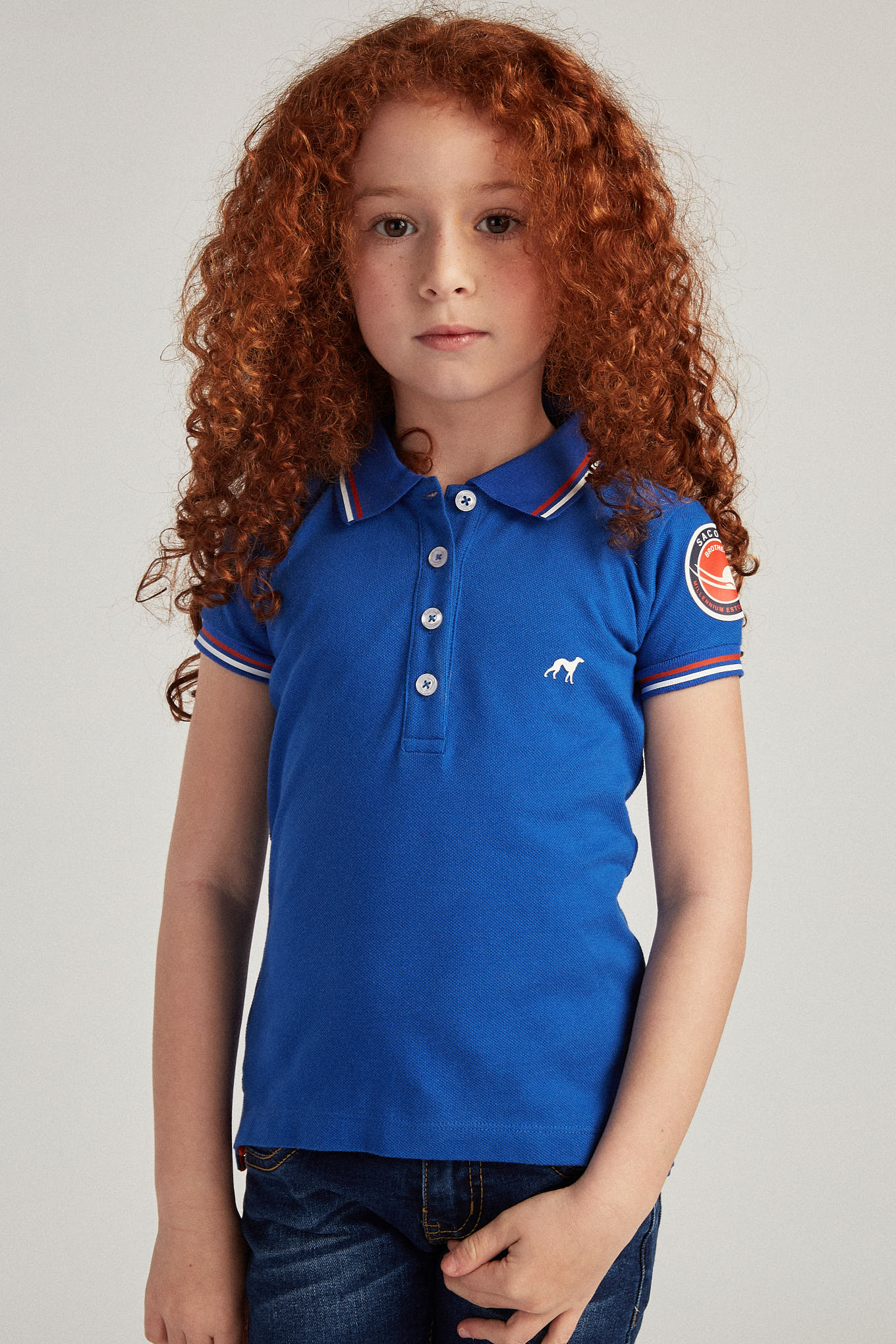 Polo Piquet Royal Blue Sport Girl