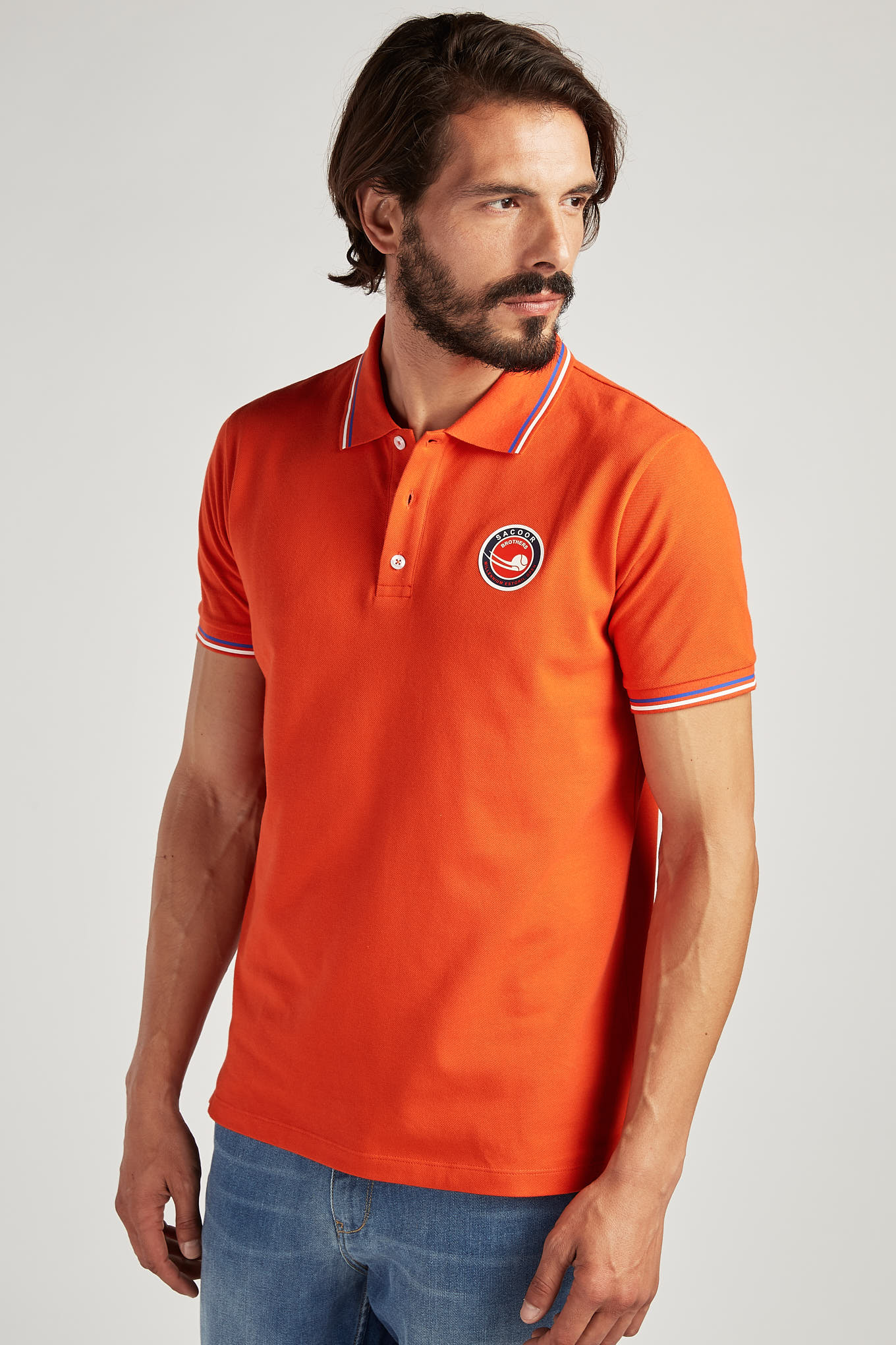 Polo Piquet Orange Sport Man
