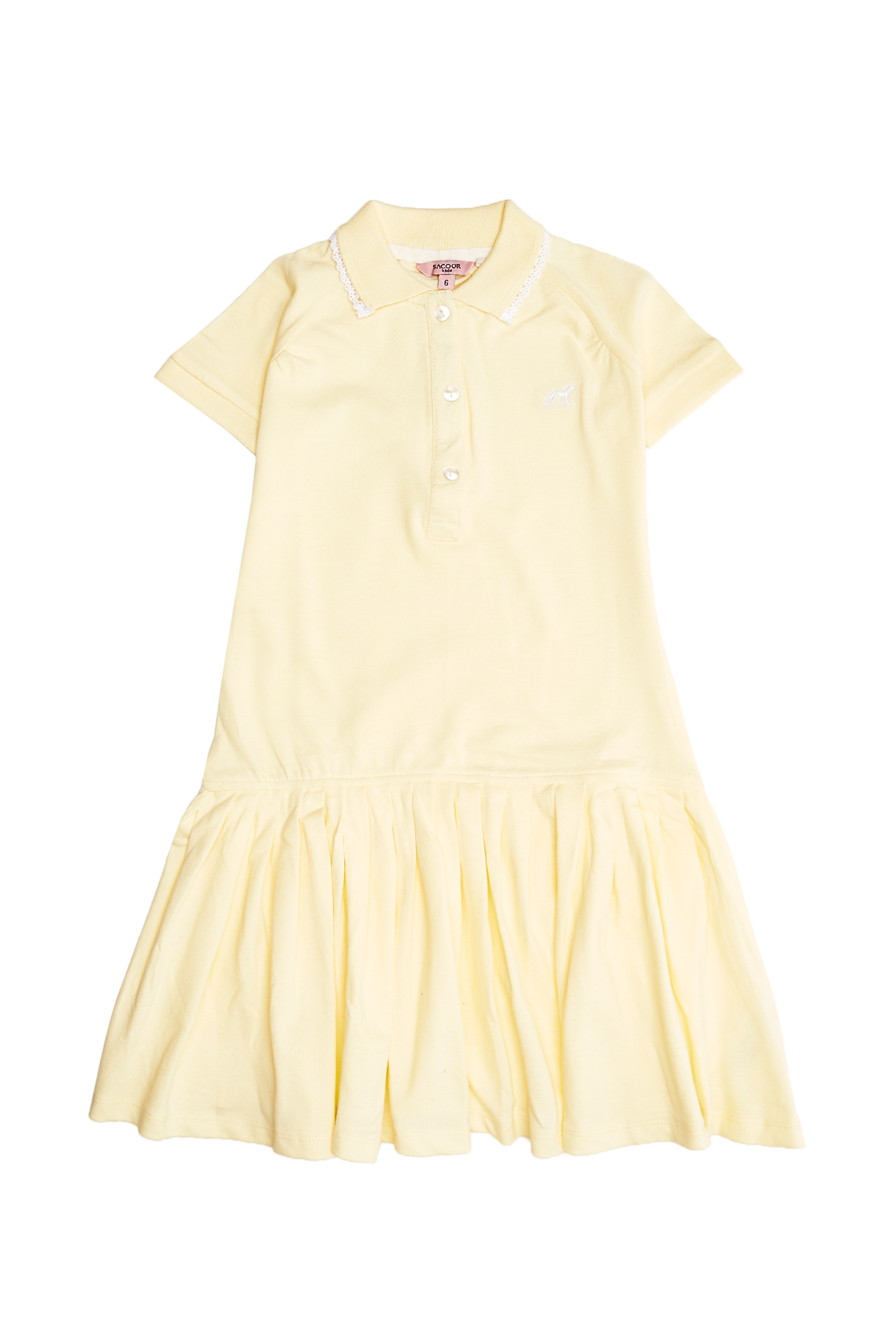 Dress Piquet Light Yellow Sport Girl