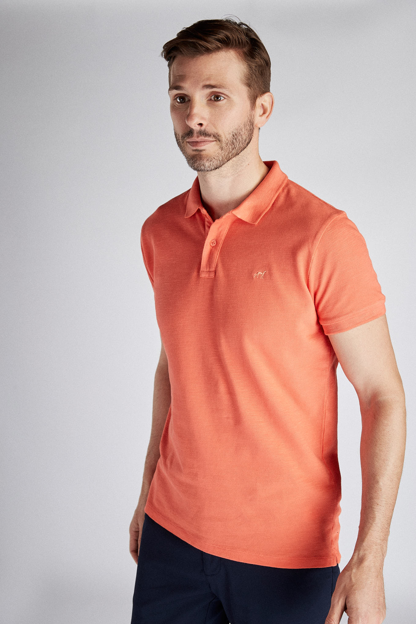 Polo Piquet Salmon Sport Man