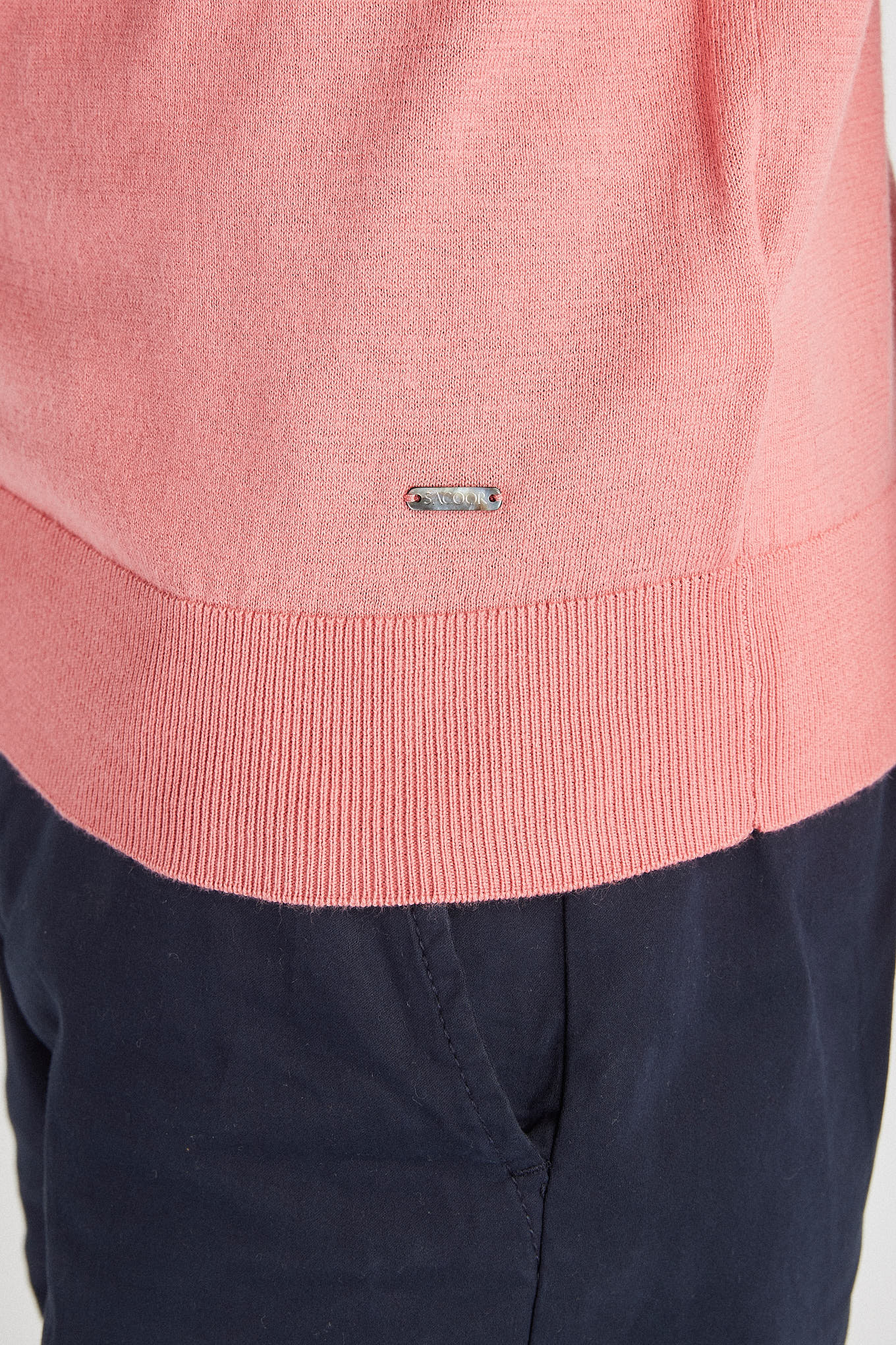 Polo Sweater Dark Pink Casual Man