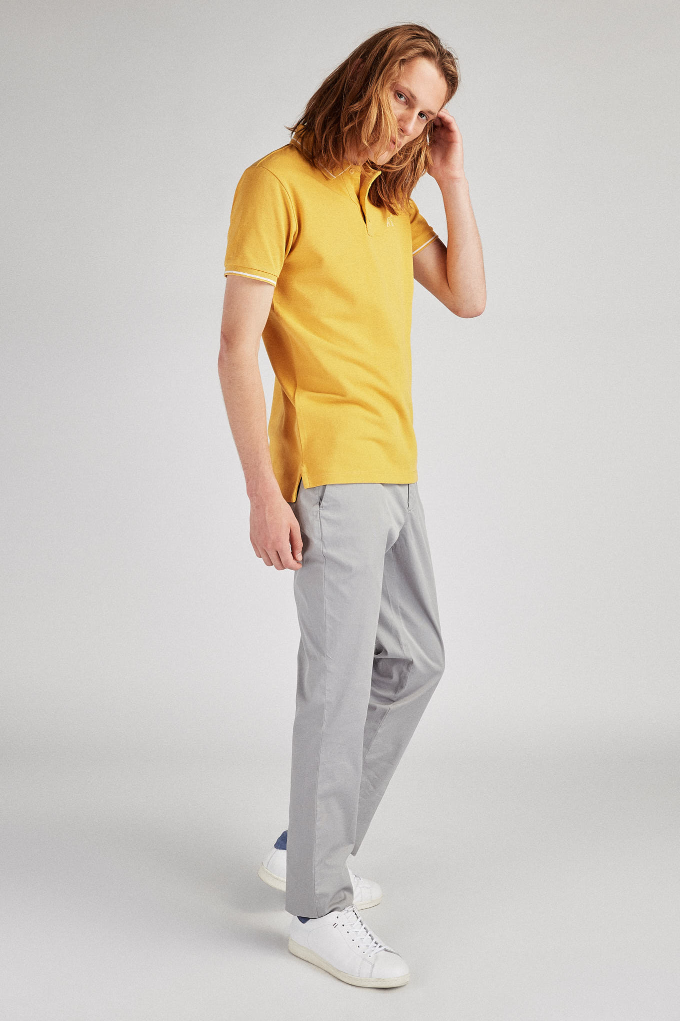 Chino Trousers Grey Casual Man