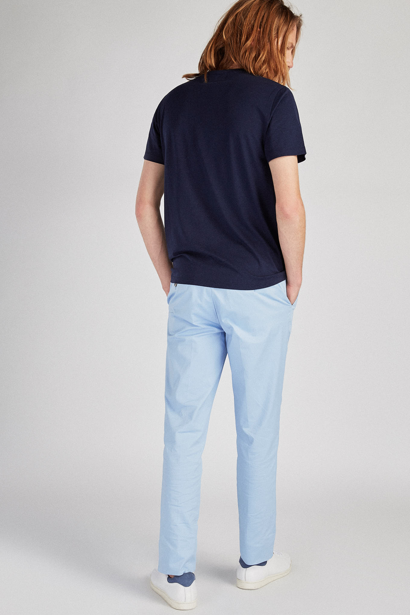 Chino Trousers Light Blue Sport Man