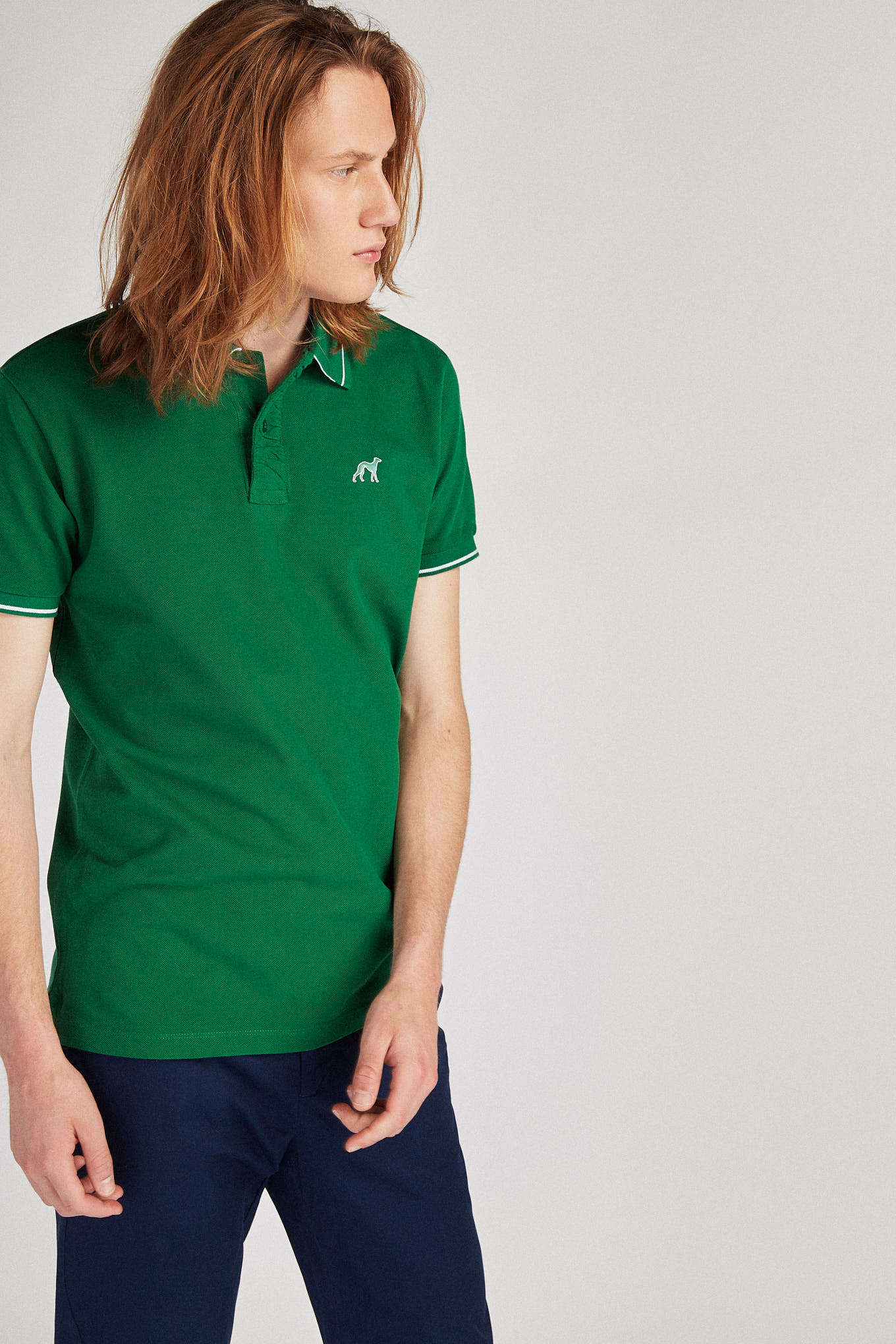 Polo Piquet Green Sport Man
