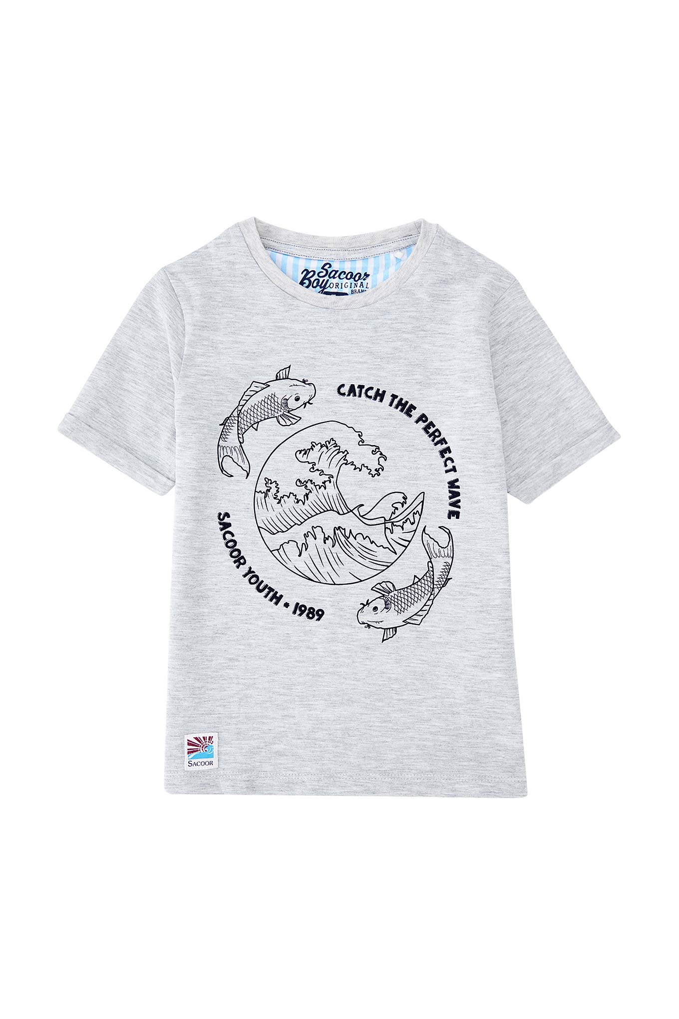 T-Shirt Light Grey Sport Boy