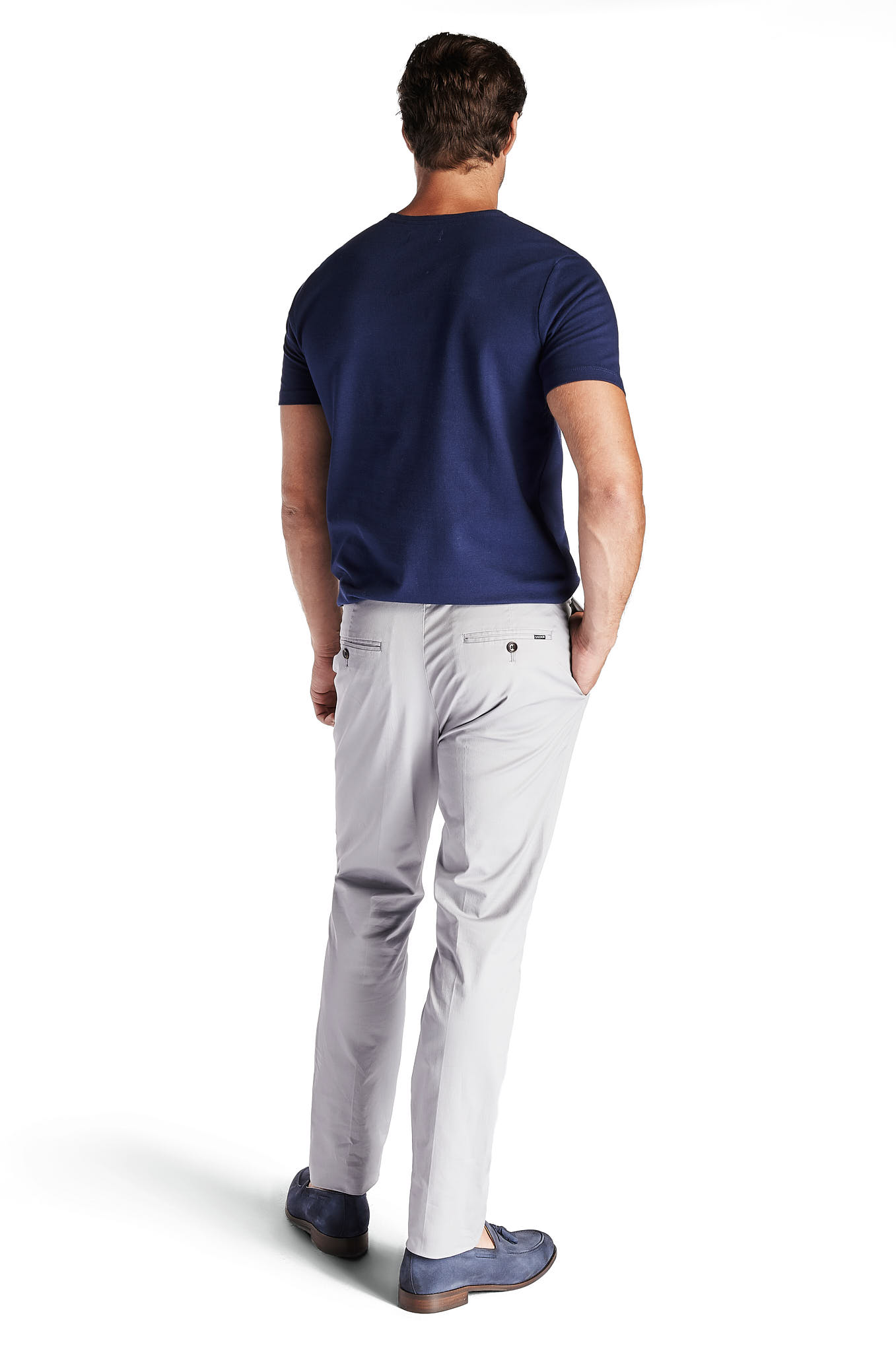 Chino Trousers Light Grey Sport Man