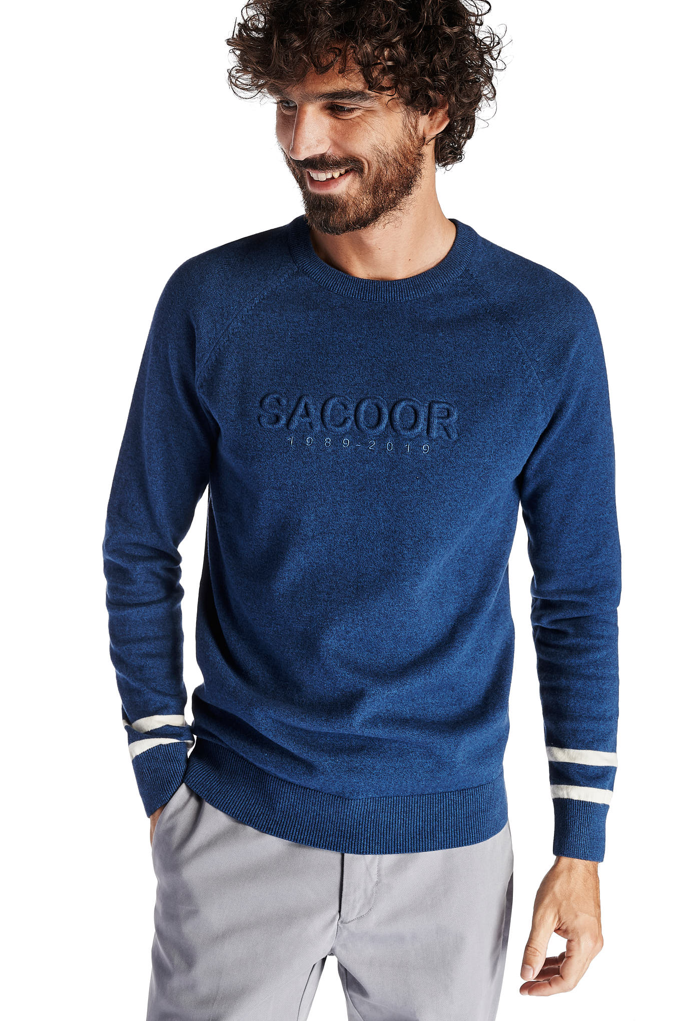 Sweater Dark Blue Casual Man