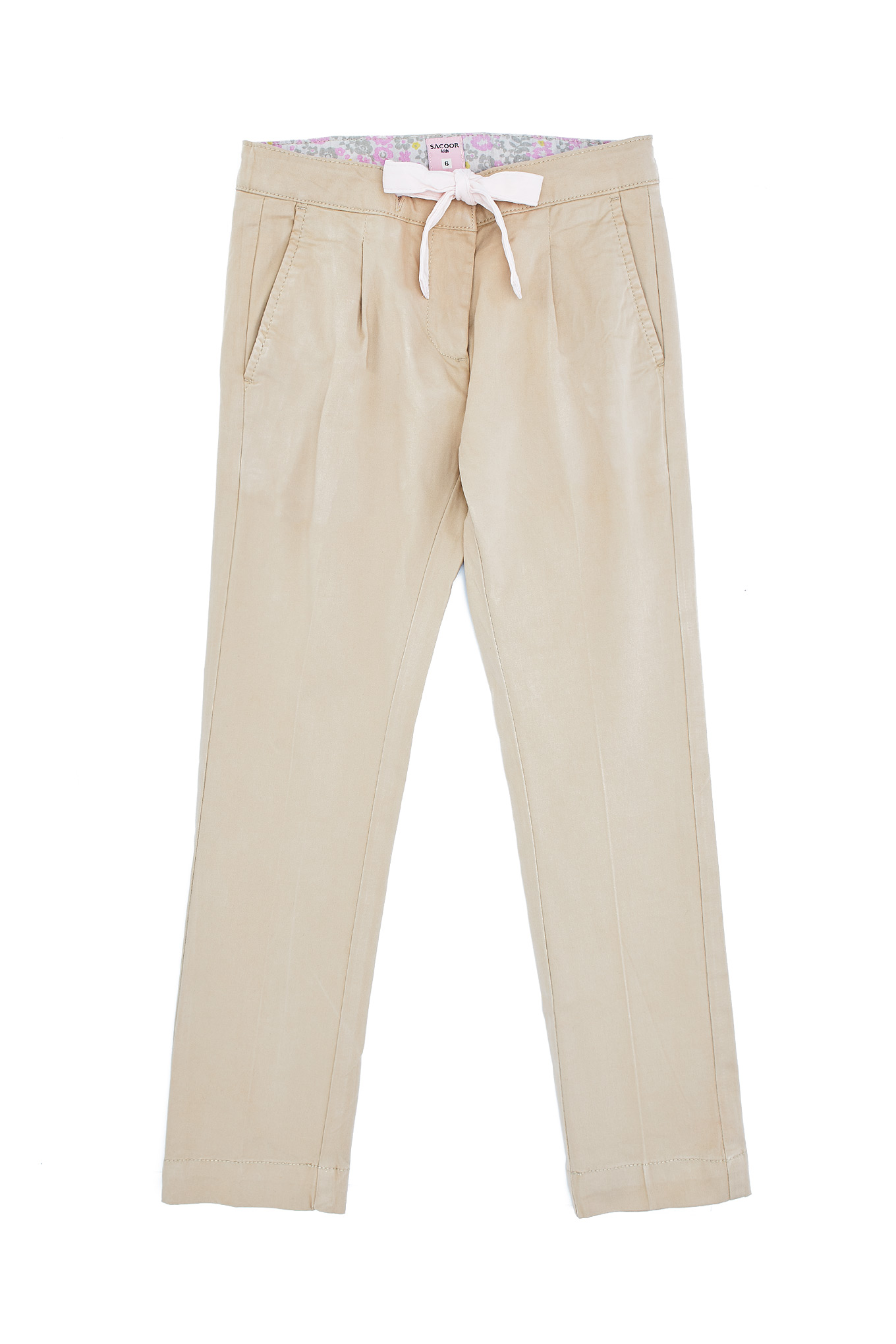 Chino Trousers Beige Casual Girl