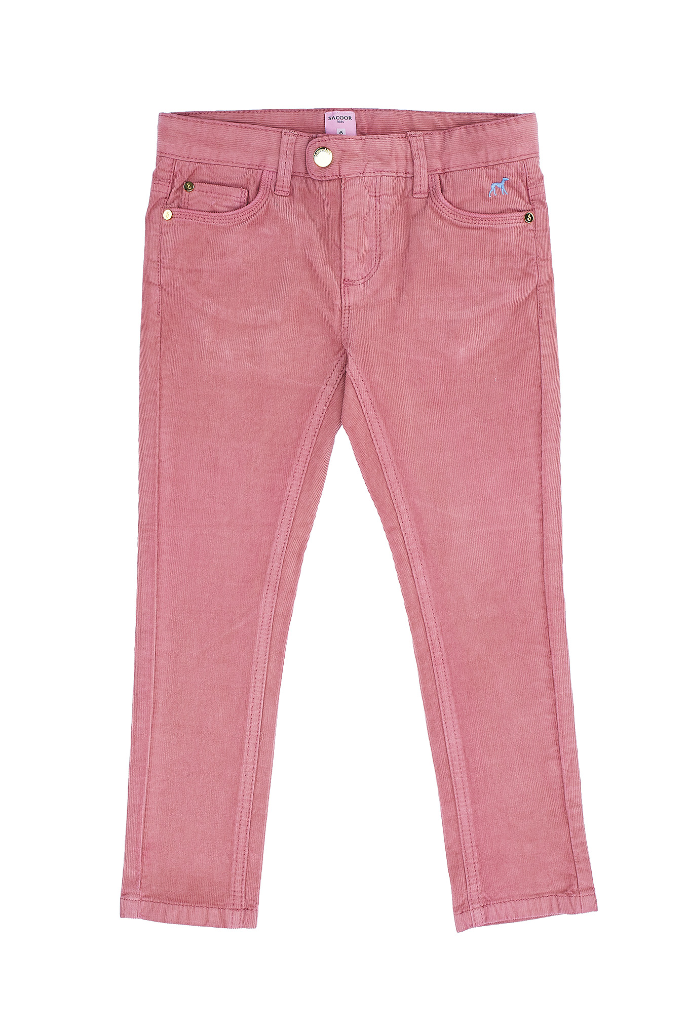 Five Pocket Trousers Dark Pink Casual Girl
