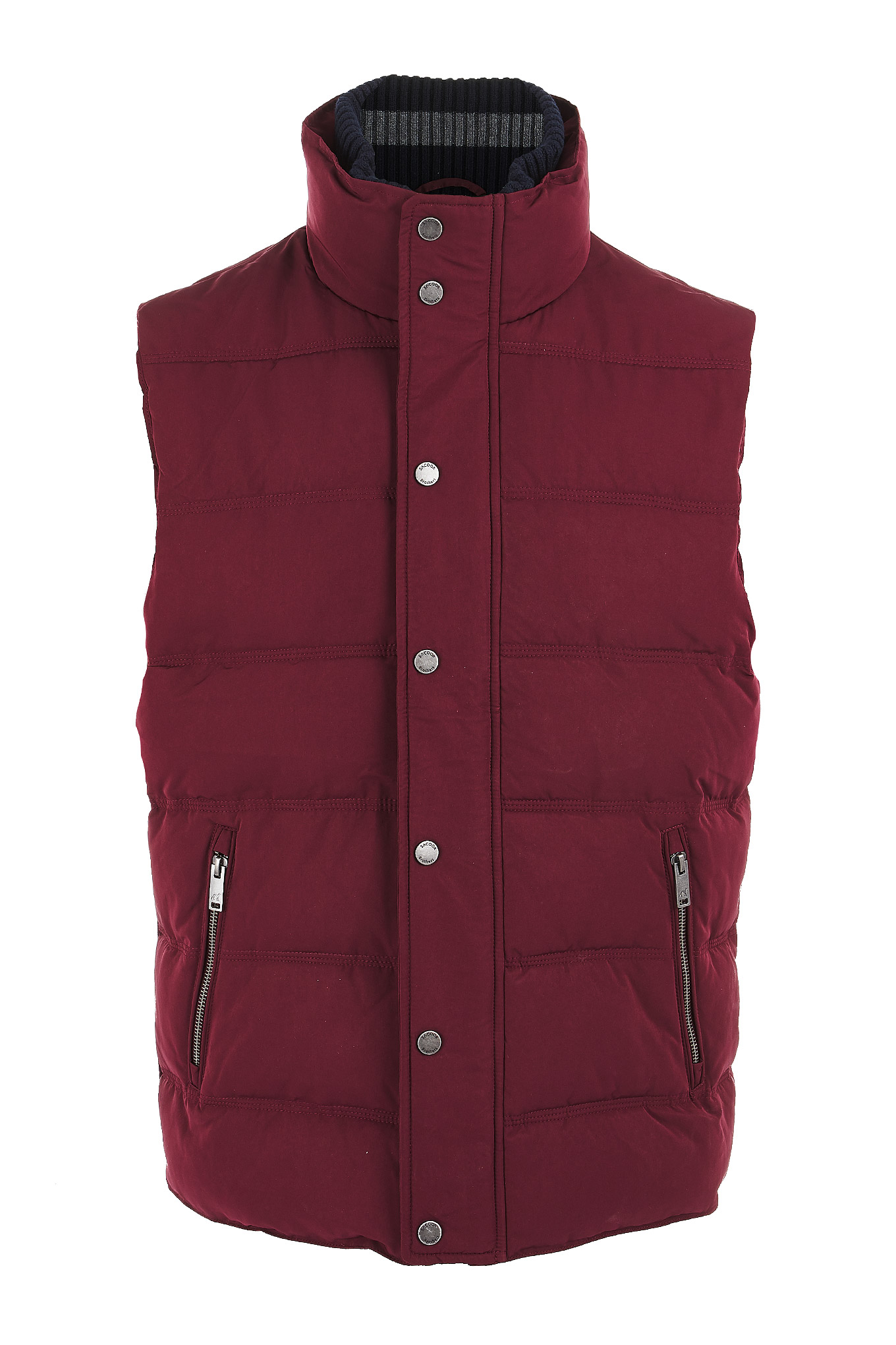 Waist Coat Plum Casual Man