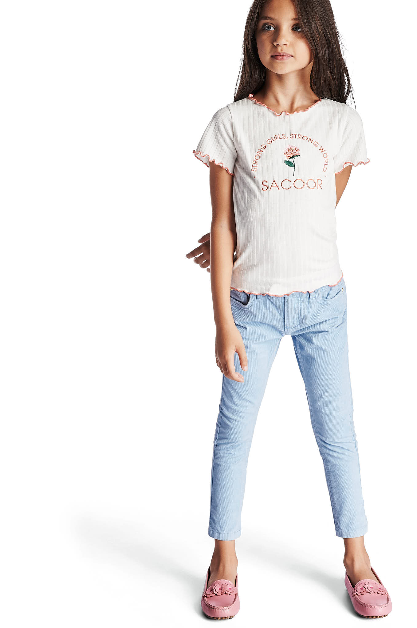 Five Pocket Trousers Light Blue Casual Girl