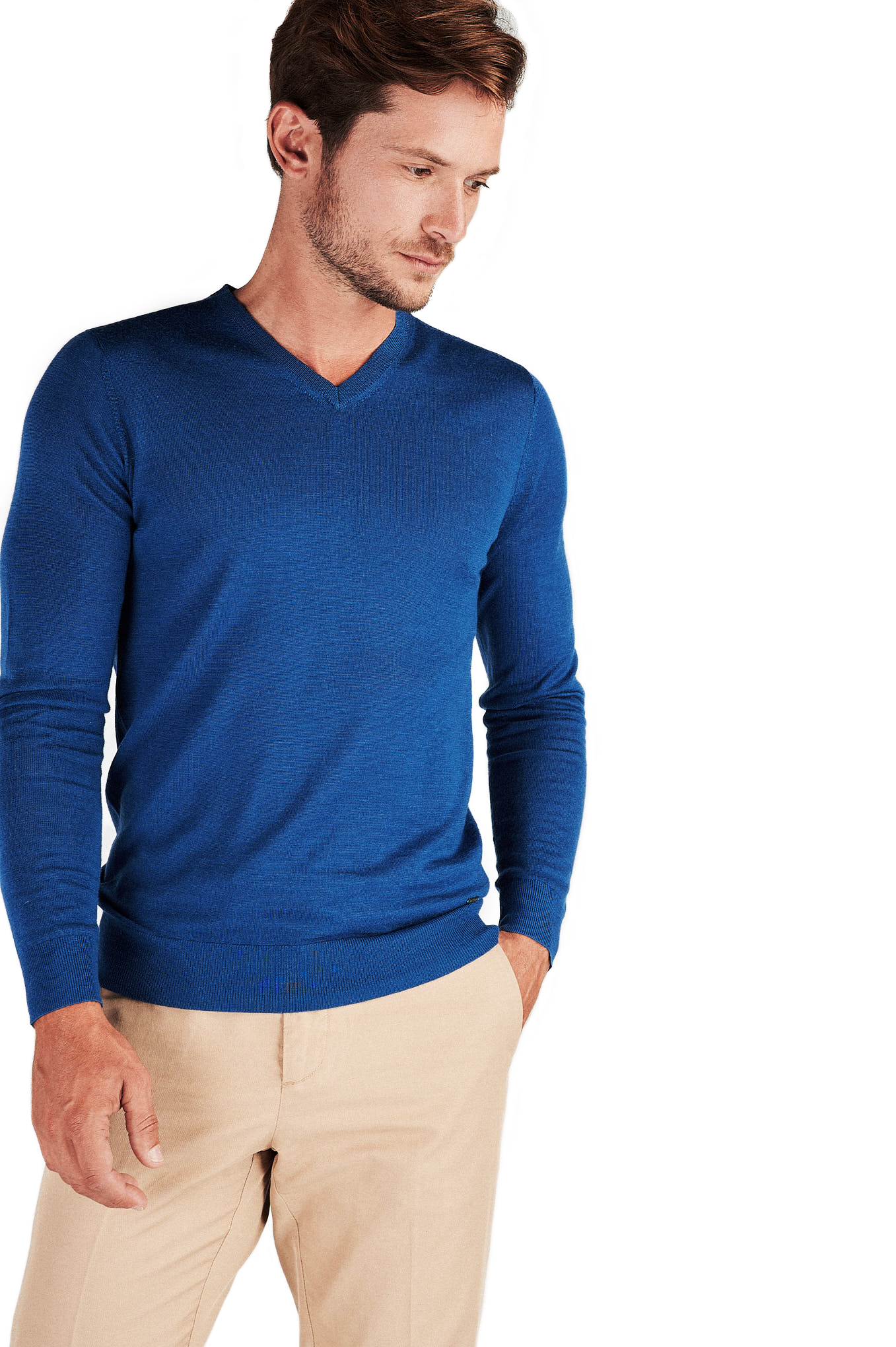 Sweater Blue Casual Man