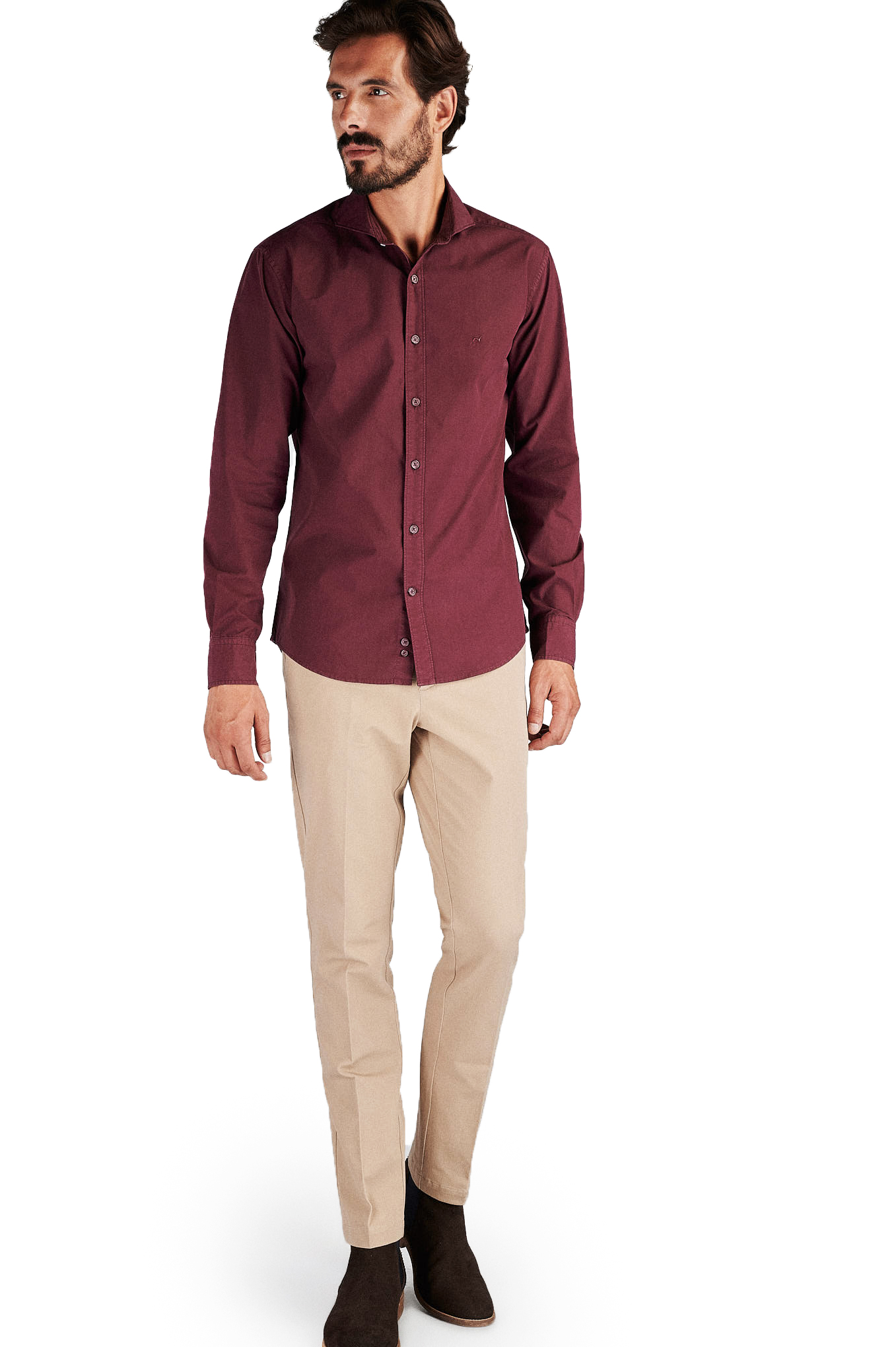 Shirt Bordeaux Sport Man