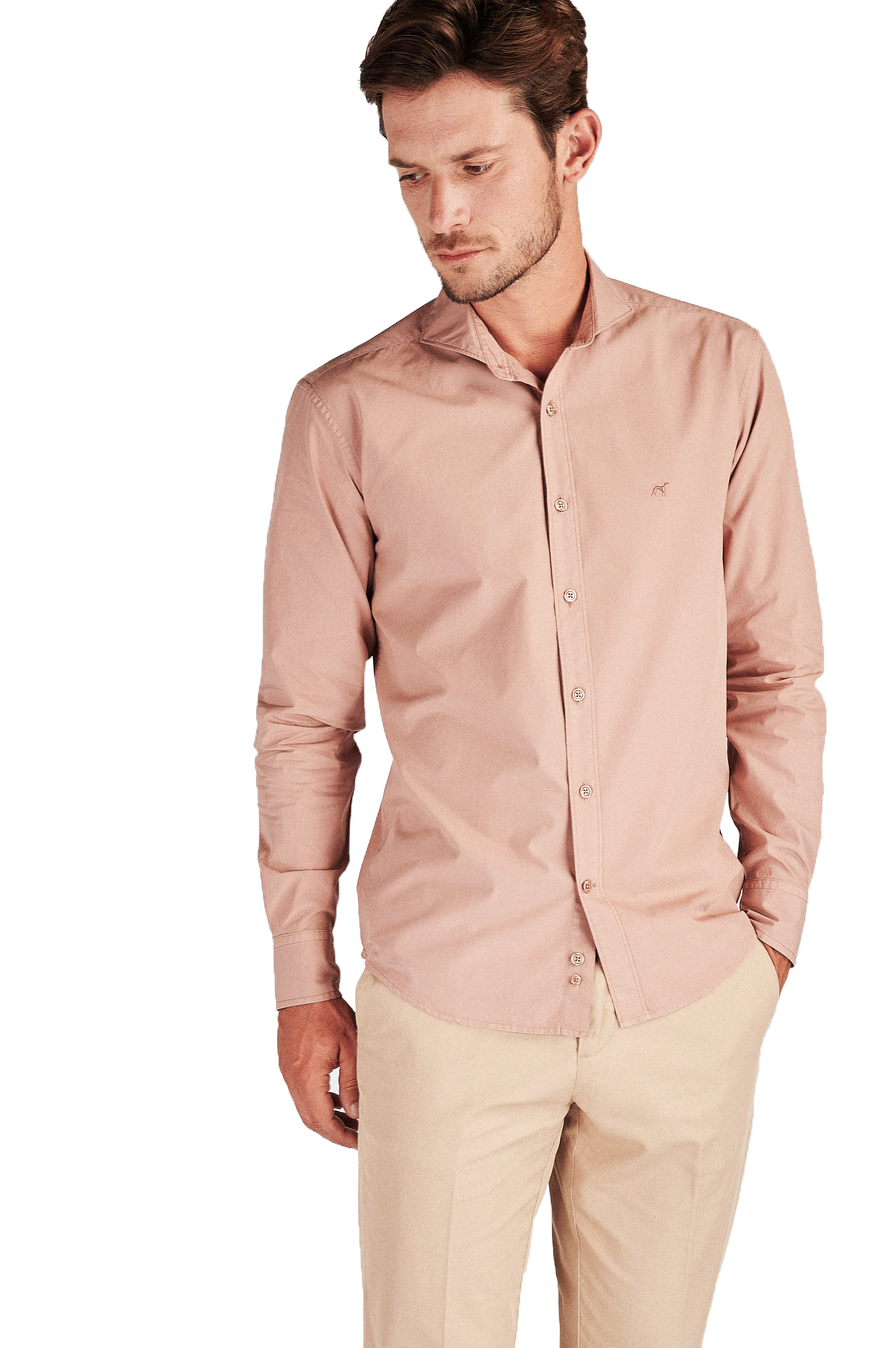 Shirt Pale Pink Sport Man