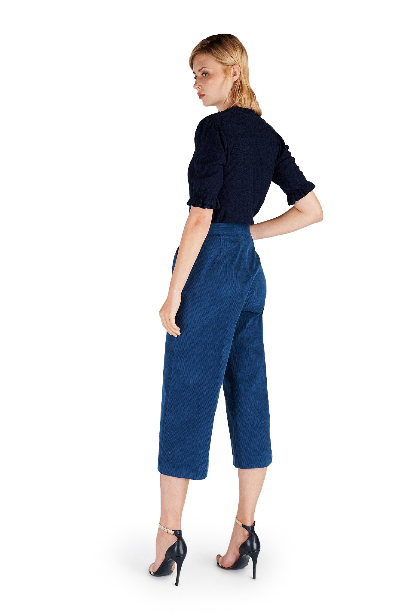 Trousers Blue Classic Woman