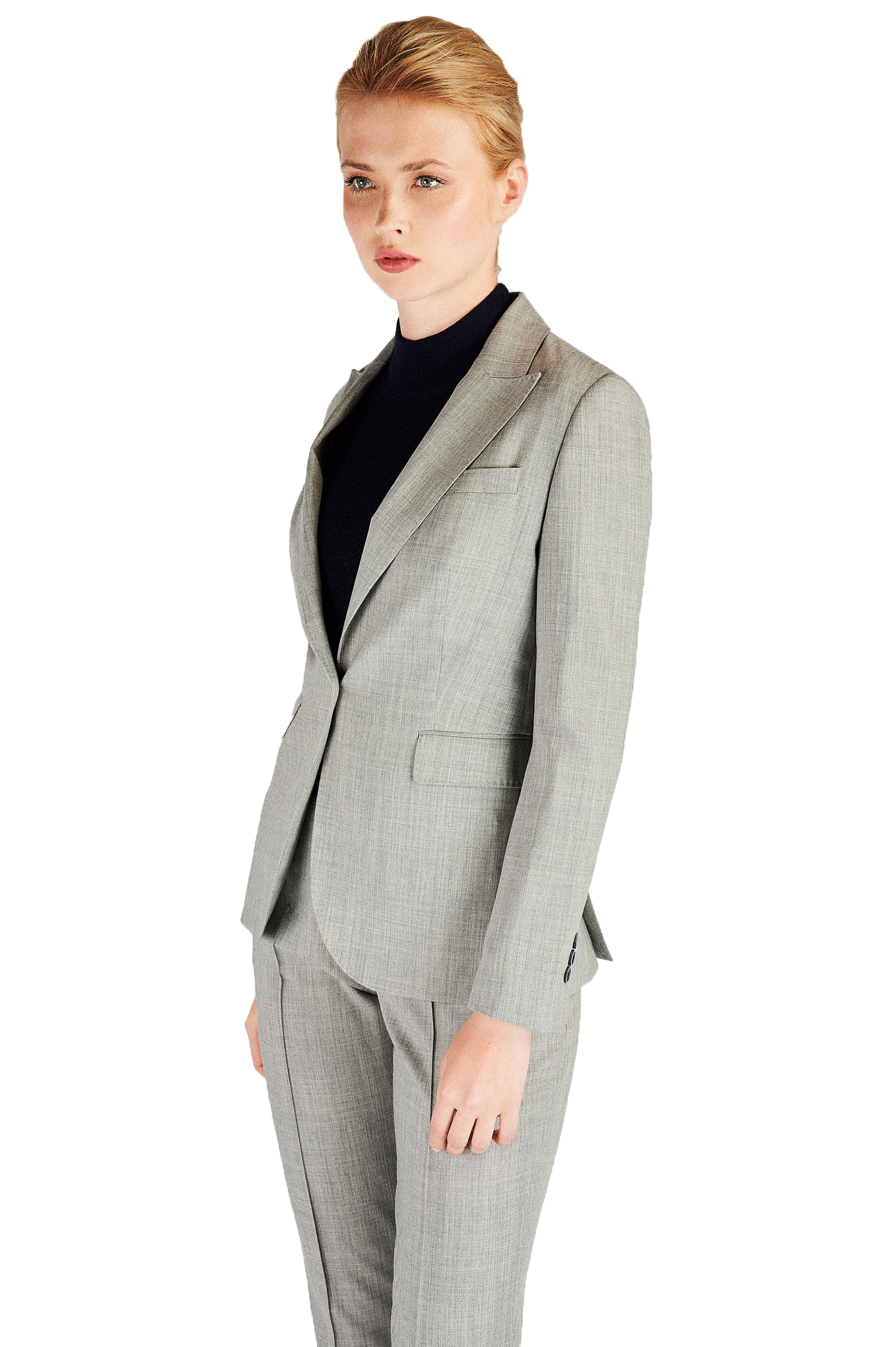 Suit Light Grey Classic Woman
