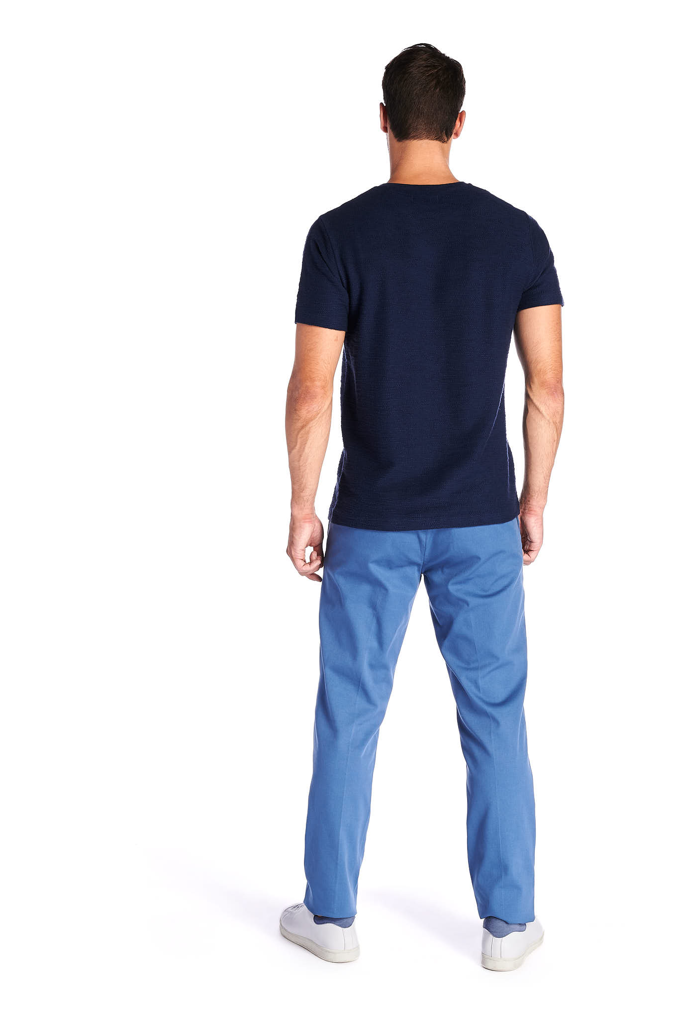 Chino Trousers Blue Sport Man