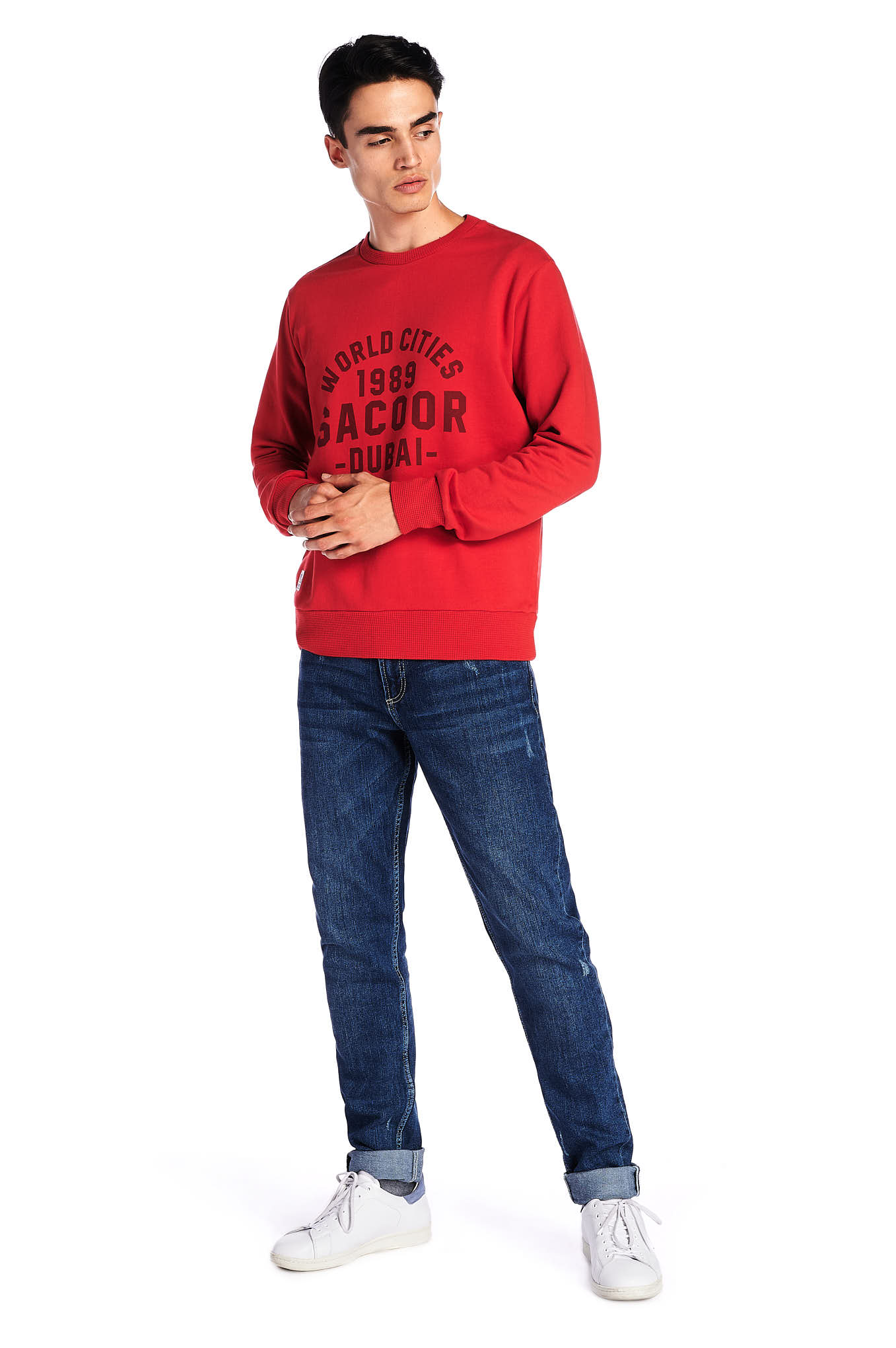 Sweatshirt Red Sport Man