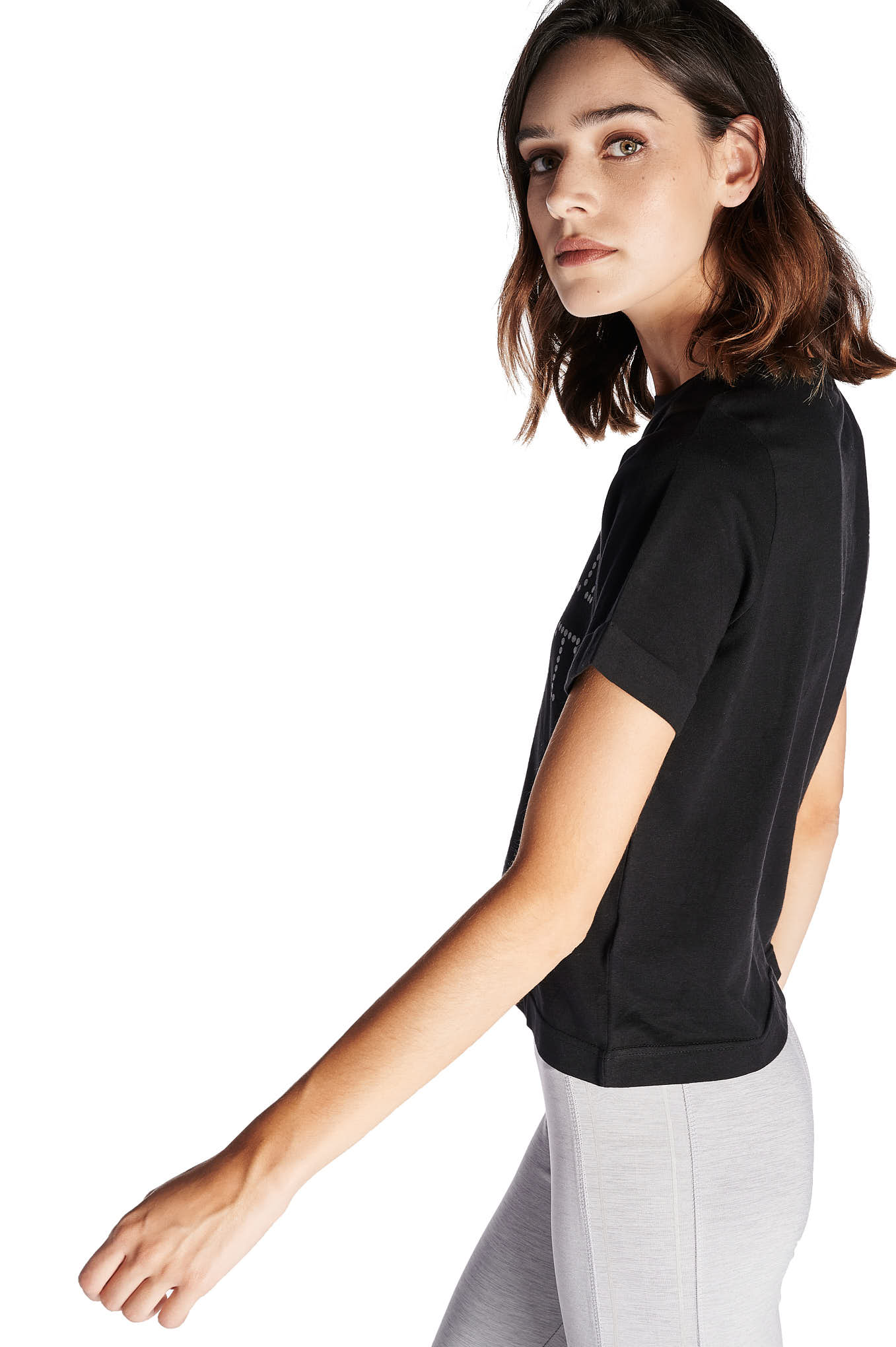 T-Shirt Black Sport Woman