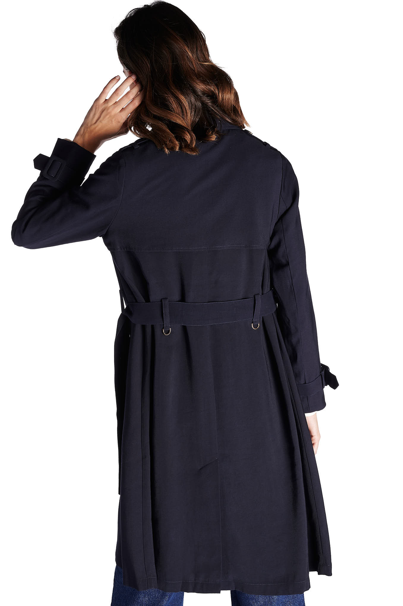 Raincoat Dark Blue Sport Woman