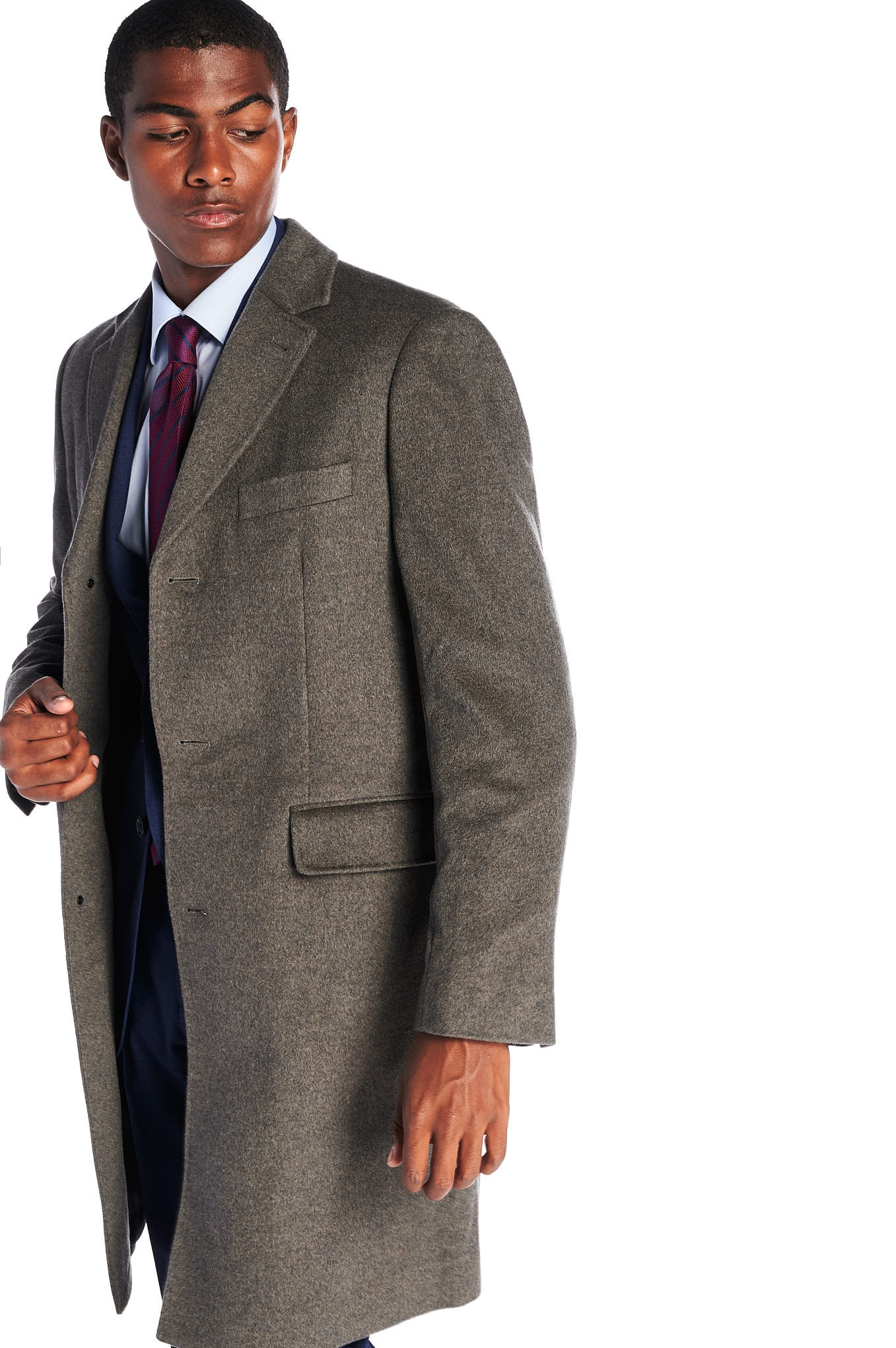 Overcoat Brown Casual Man