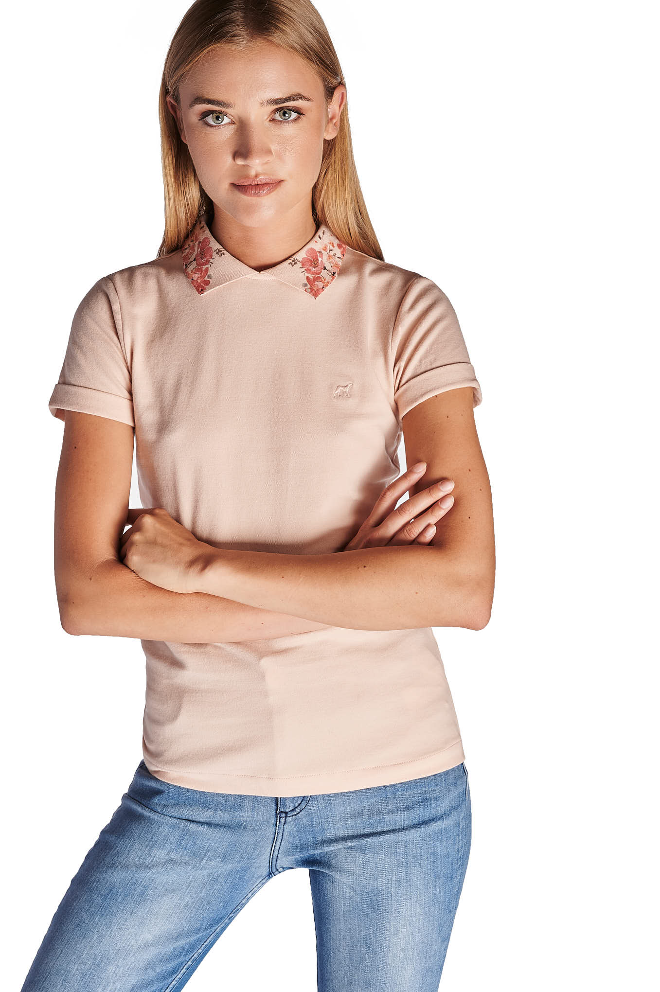Polo Piquet Pale Pink Sport Woman