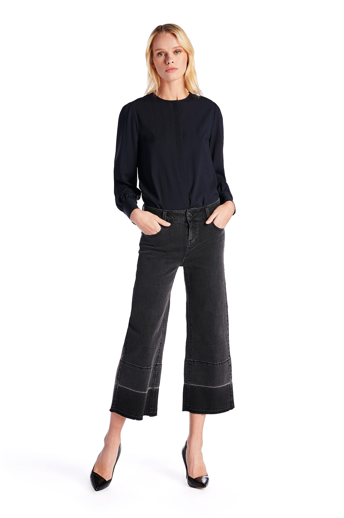 Jeans Grey Casual Woman
