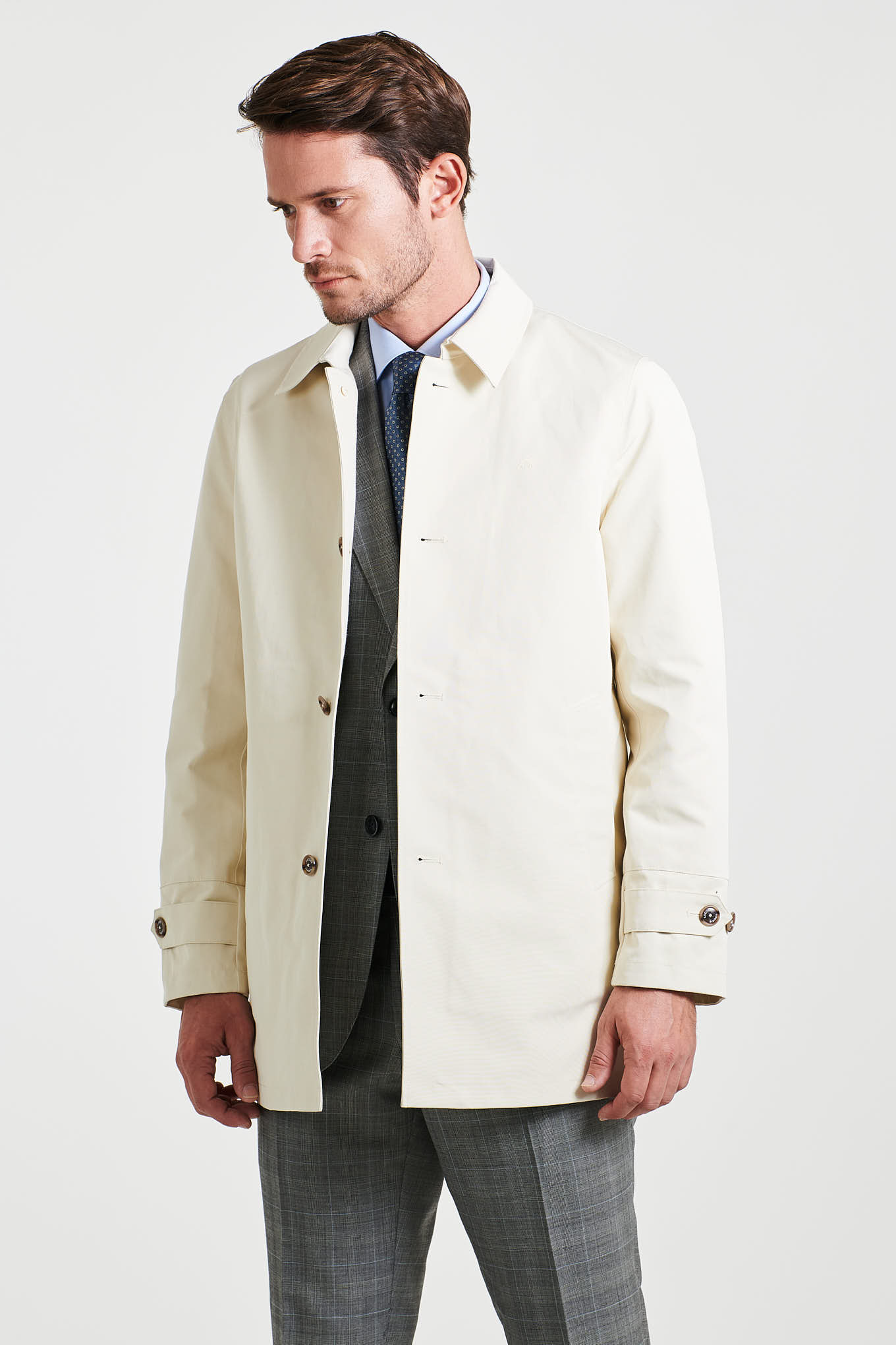 Raincoat Ecru Casual Man