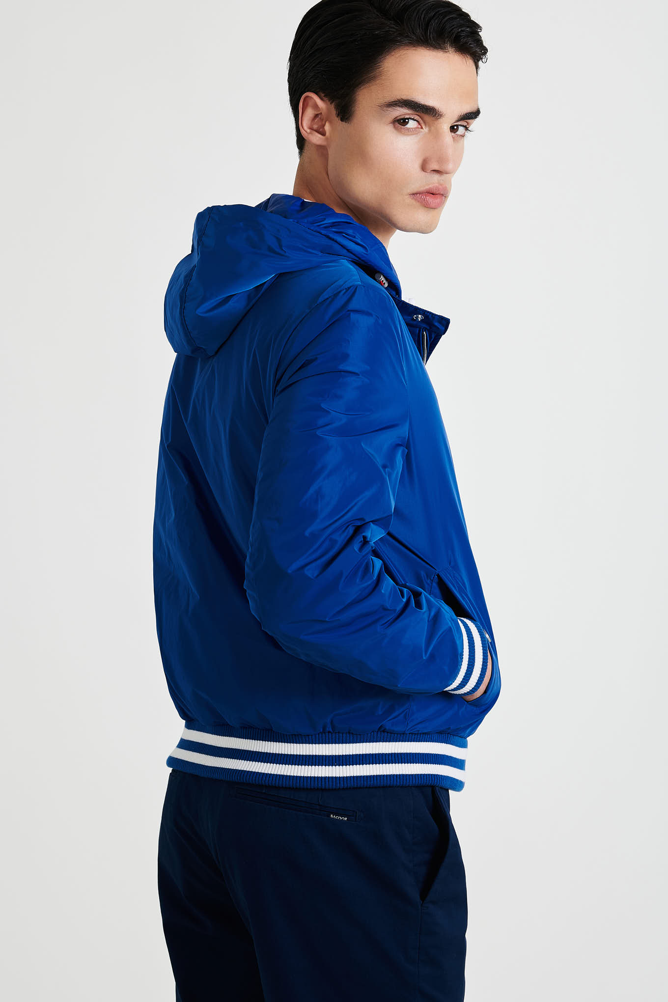 Jacket Blue Casual Man