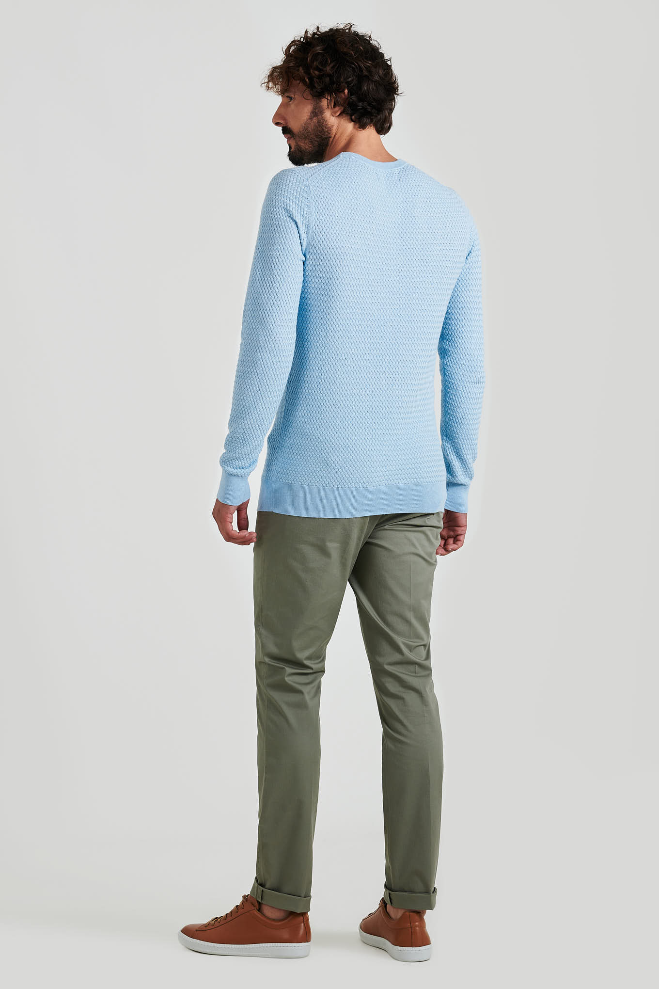 Sweater Light Blue Casual Man