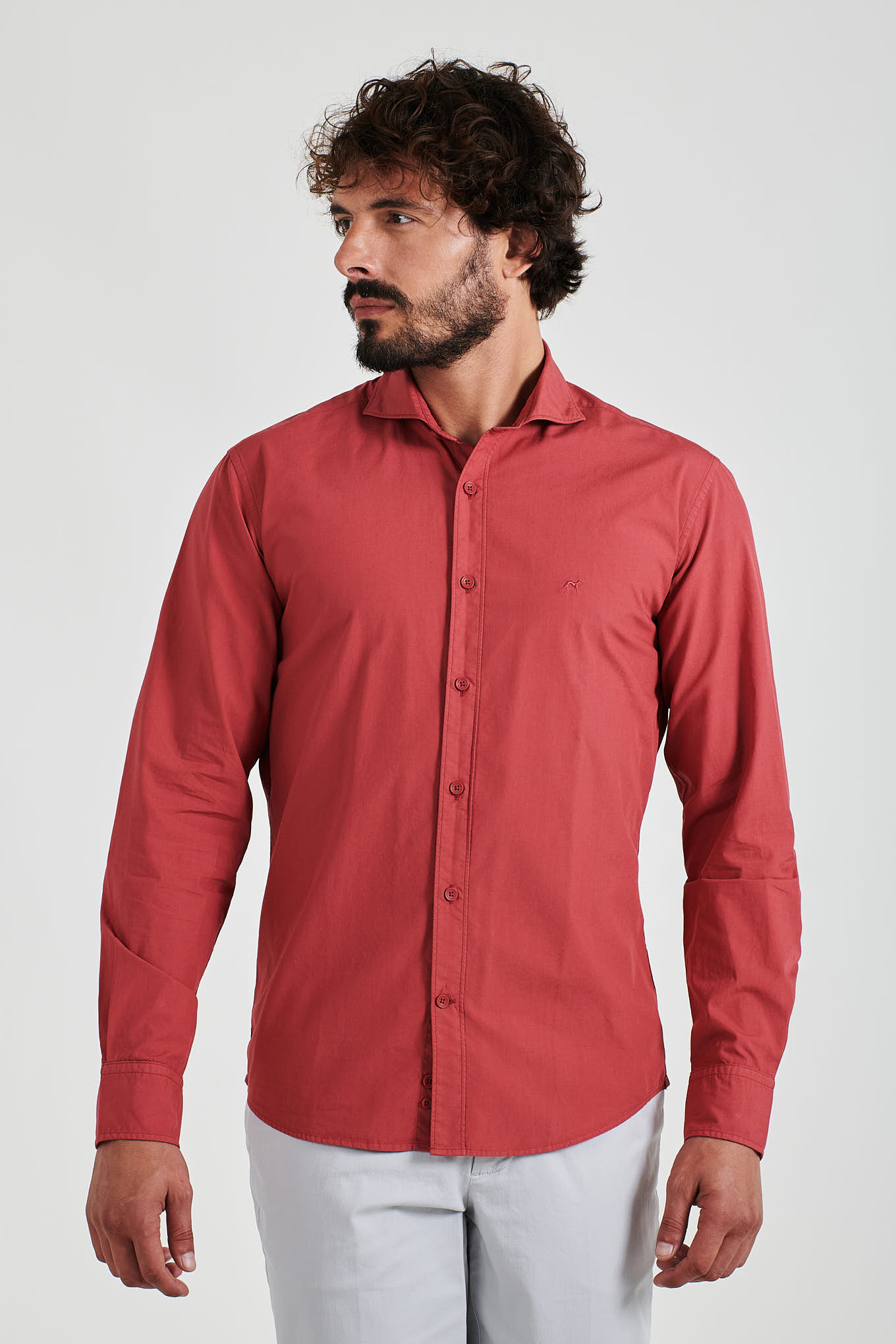Shirt Light Red Sport Man