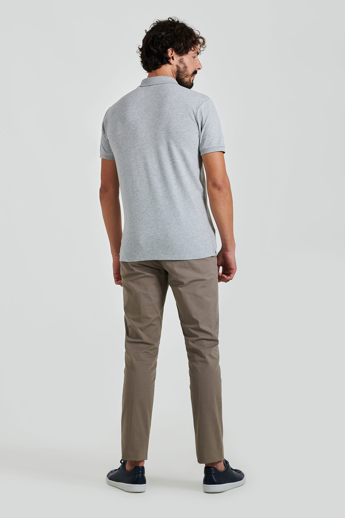 Polo Piquet Light Grey Sport Man