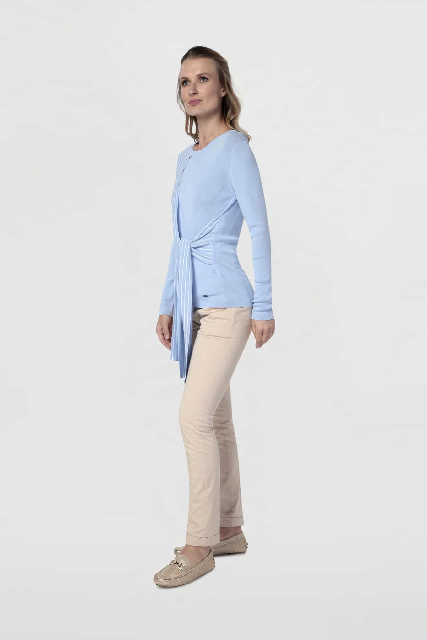 Sweater Light Blue Casual Woman