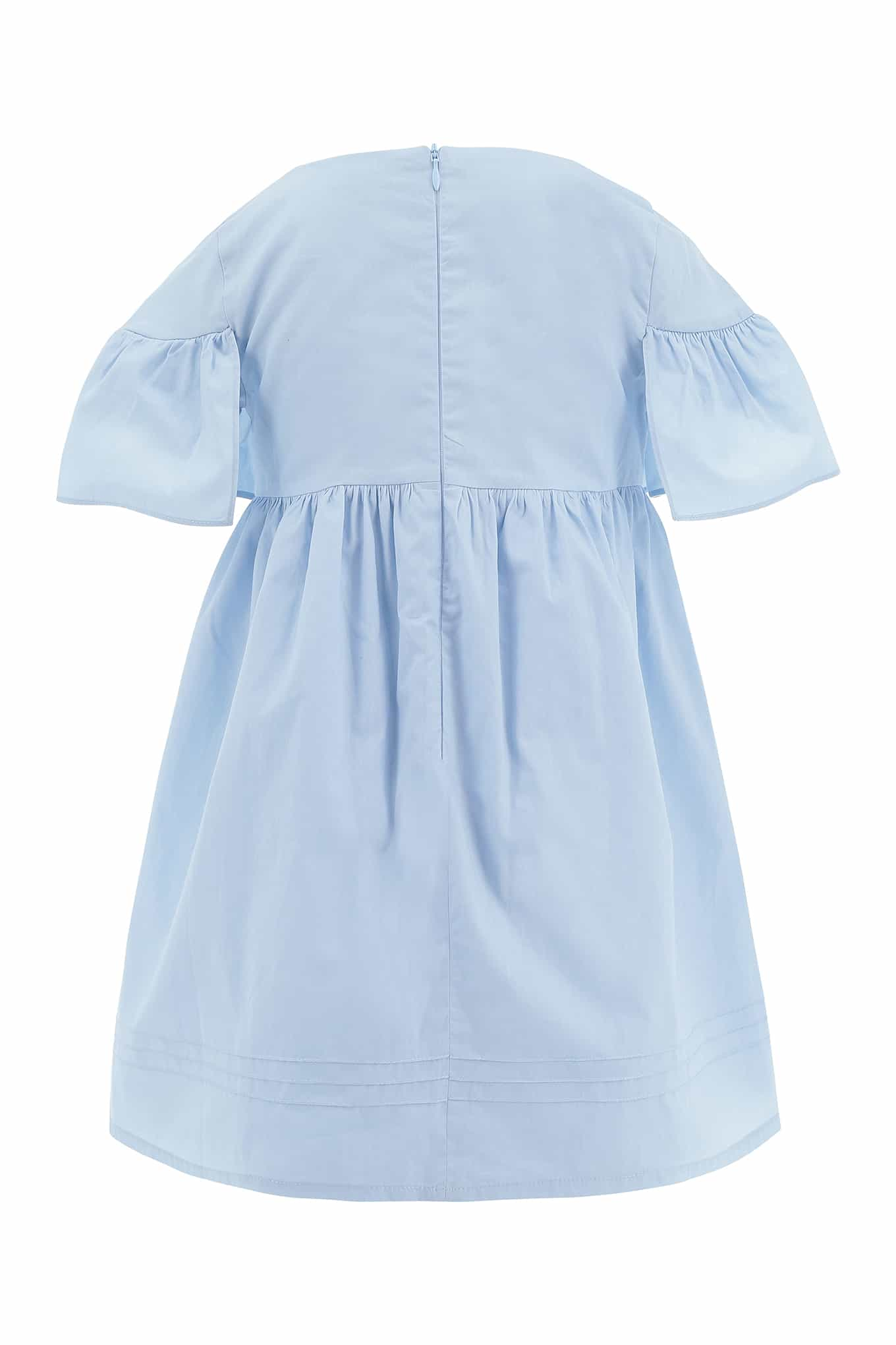 Dress Light Blue Casual Girl