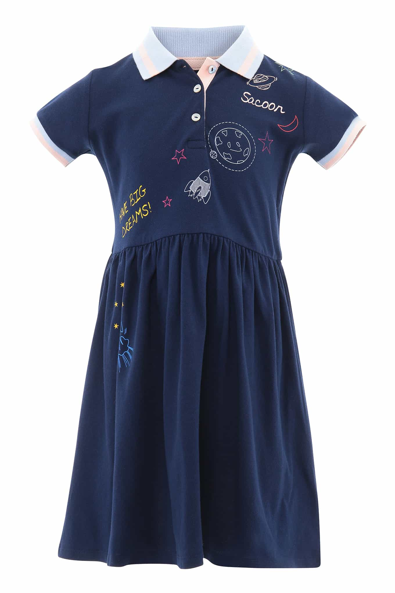 Dress Piquet Dark Blue Sport Girl