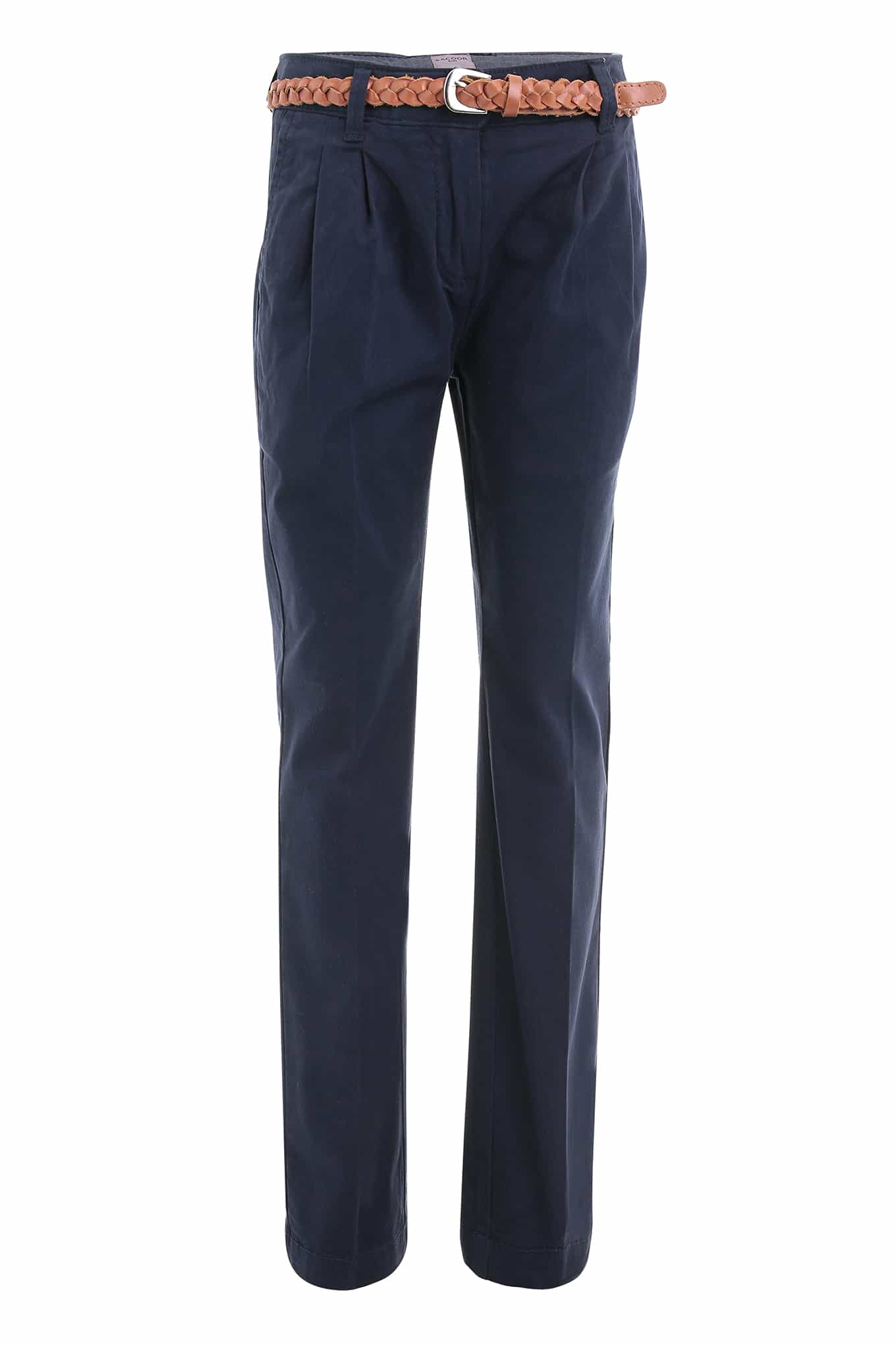 Chino Trousers Dark Blue Casual Girl