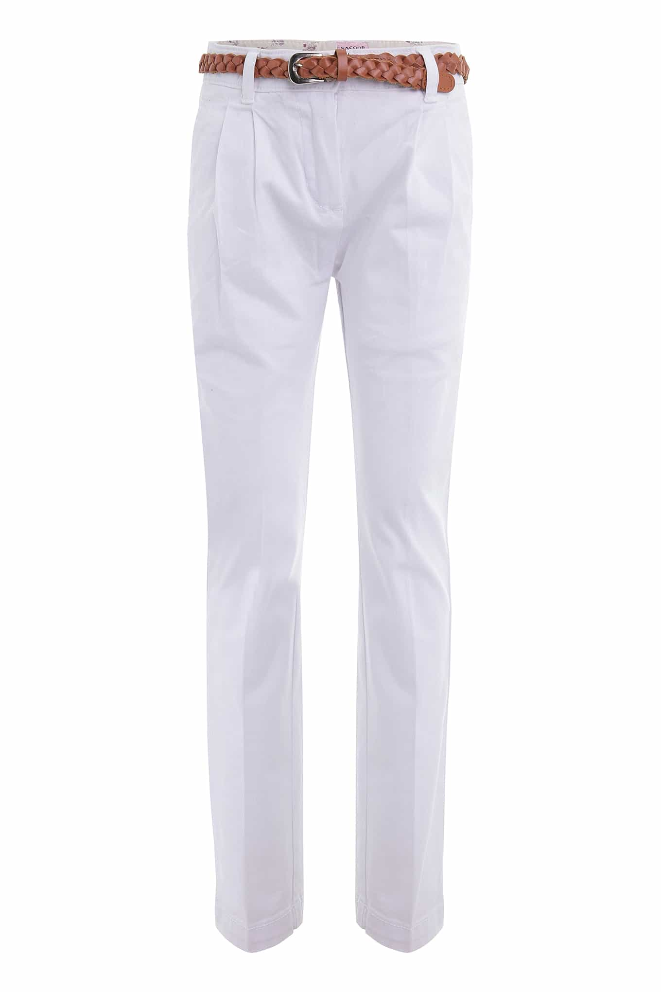 Chino Trousers White Casual Girl