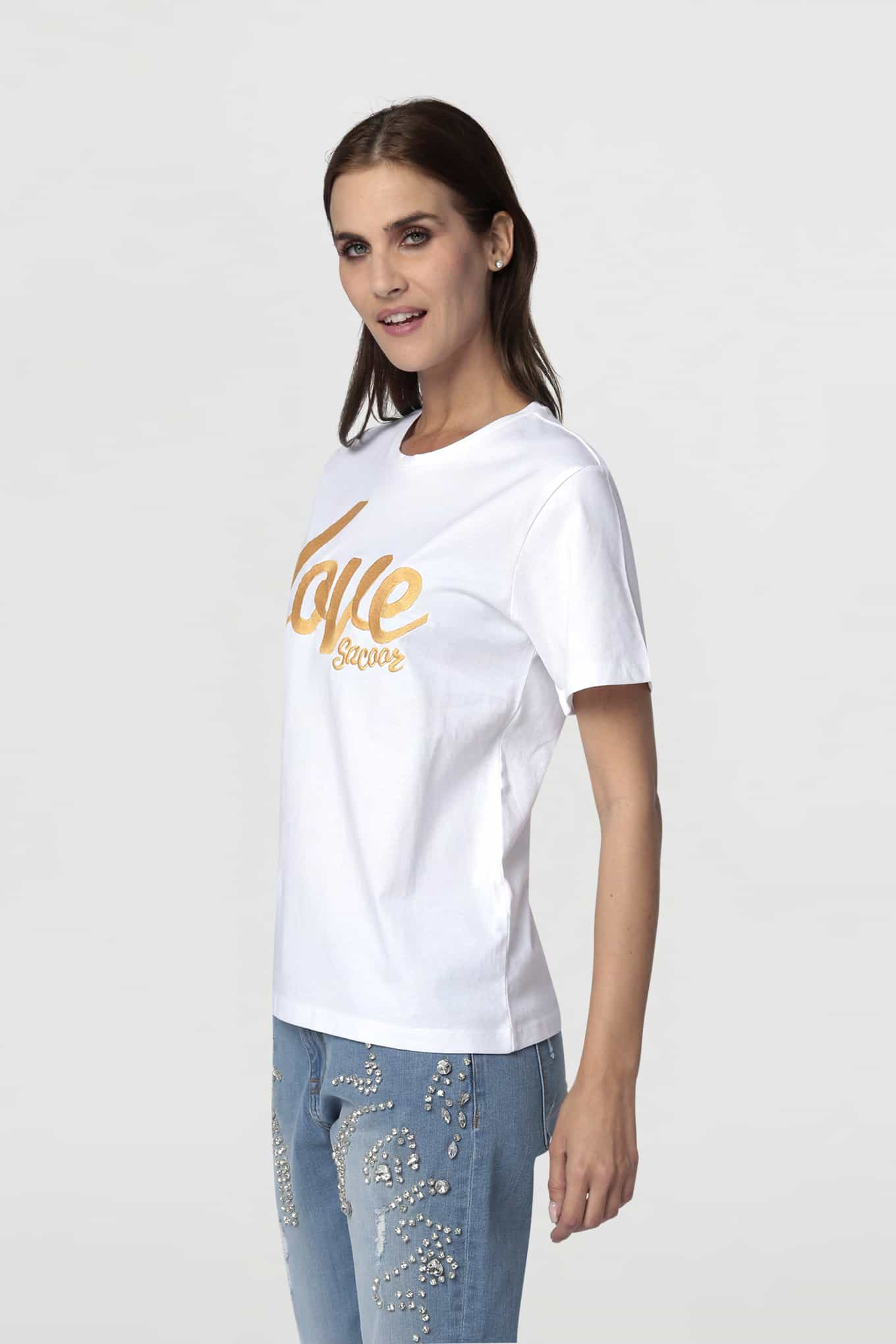 T-Shirt White Sport Woman