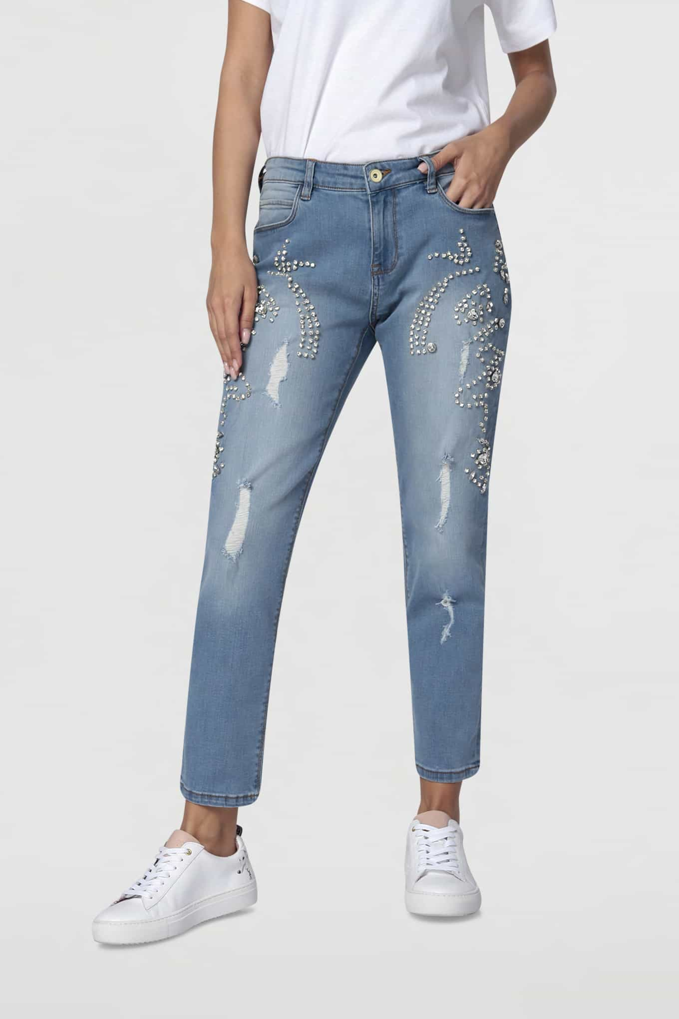 Jeans Light Blue Casual Woman