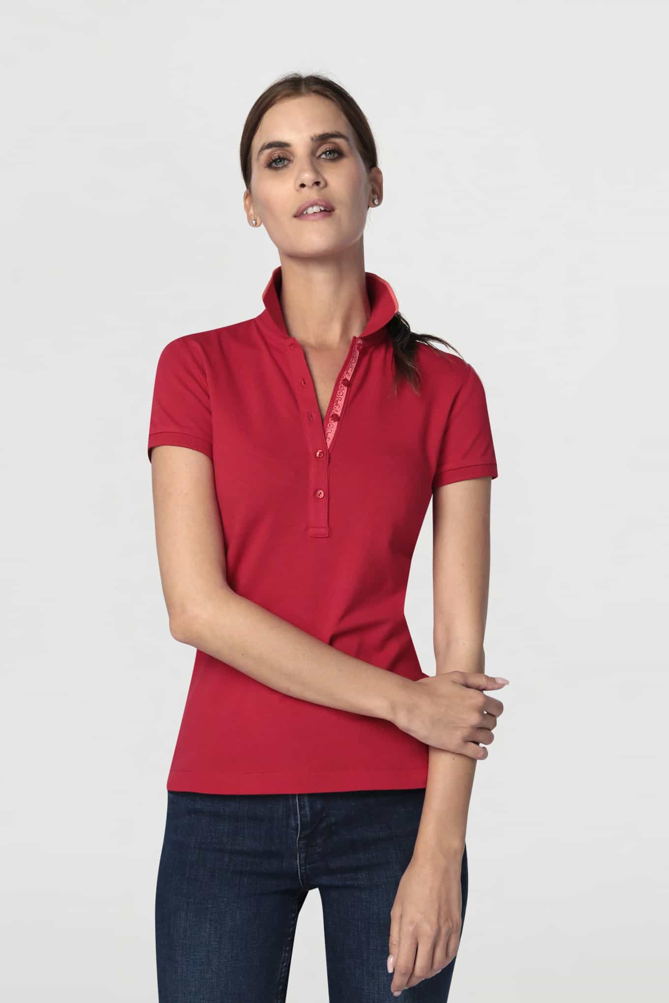 Polo Piquet Red Sport Woman