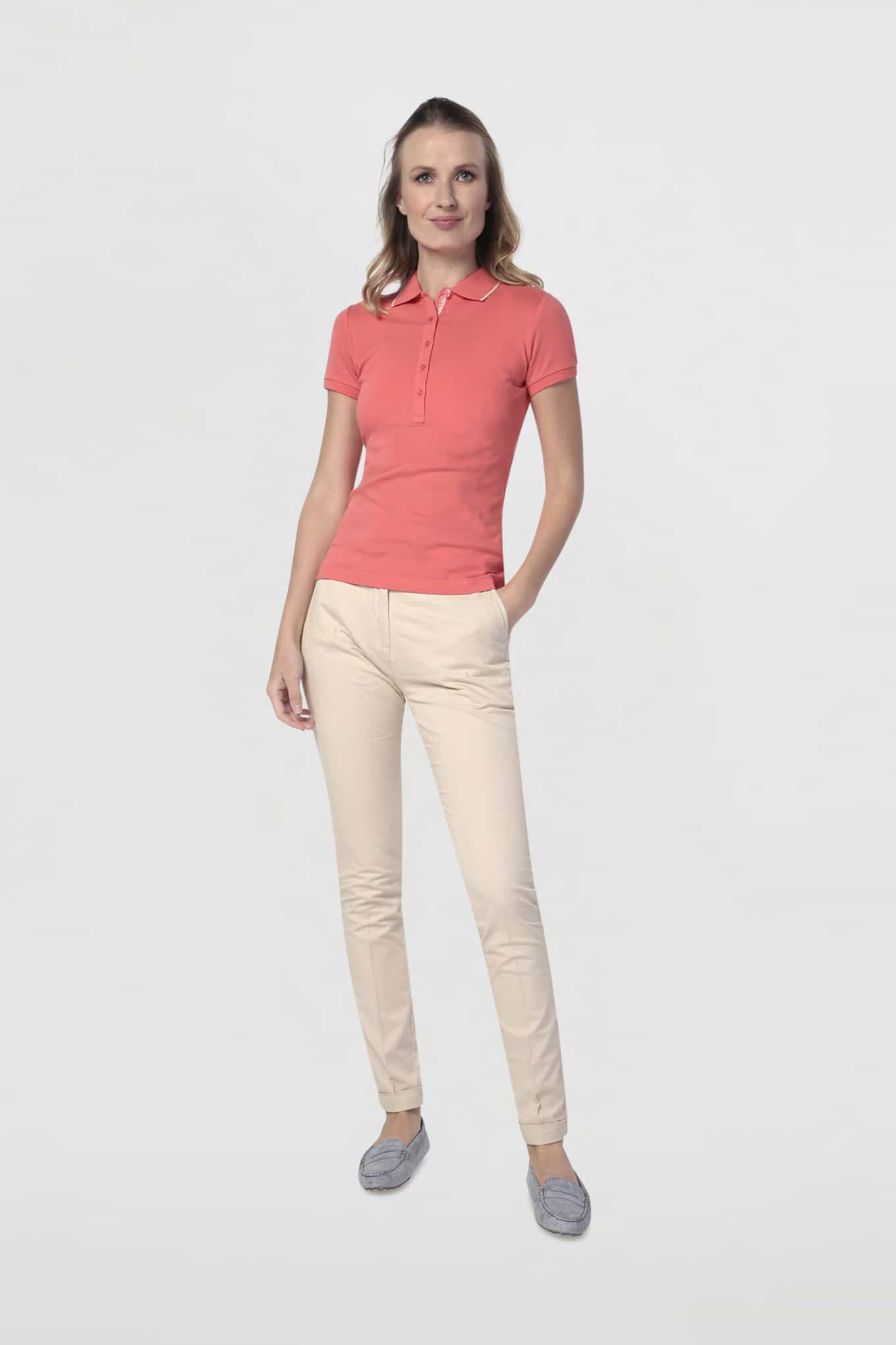 Polo Piquet Salmon Sport Woman