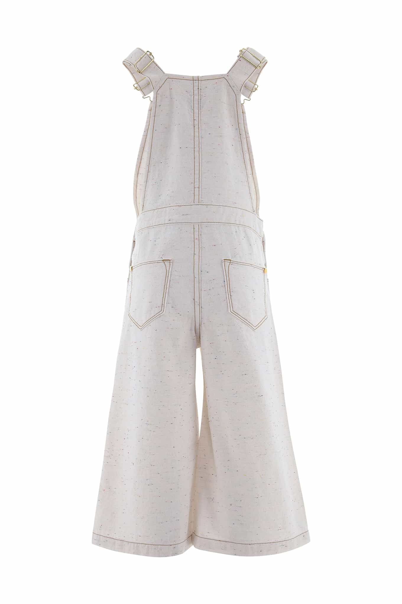 Jumpsuit Ecru Casual Girl