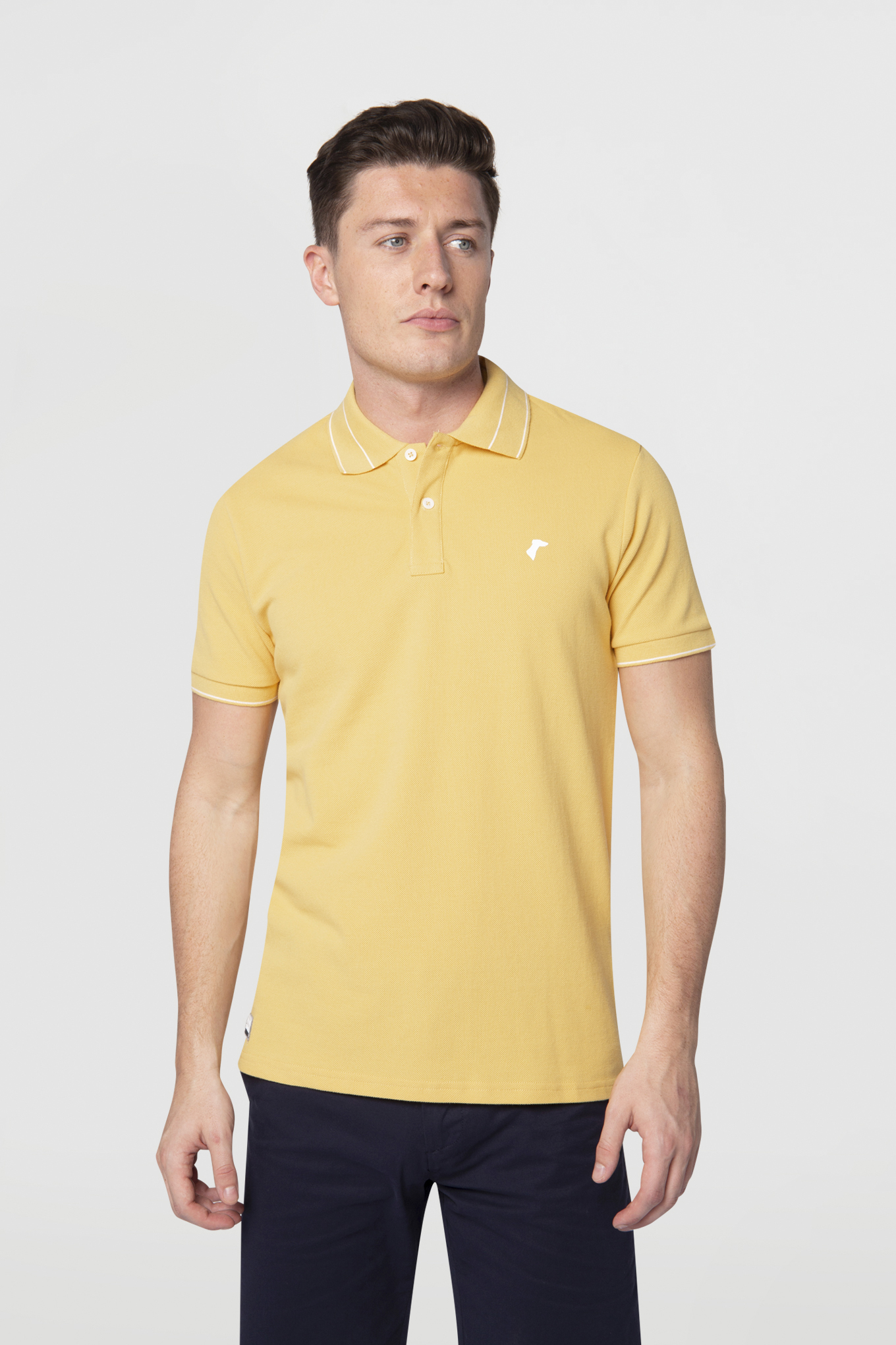 Polo Piquet Yellow Sport Man