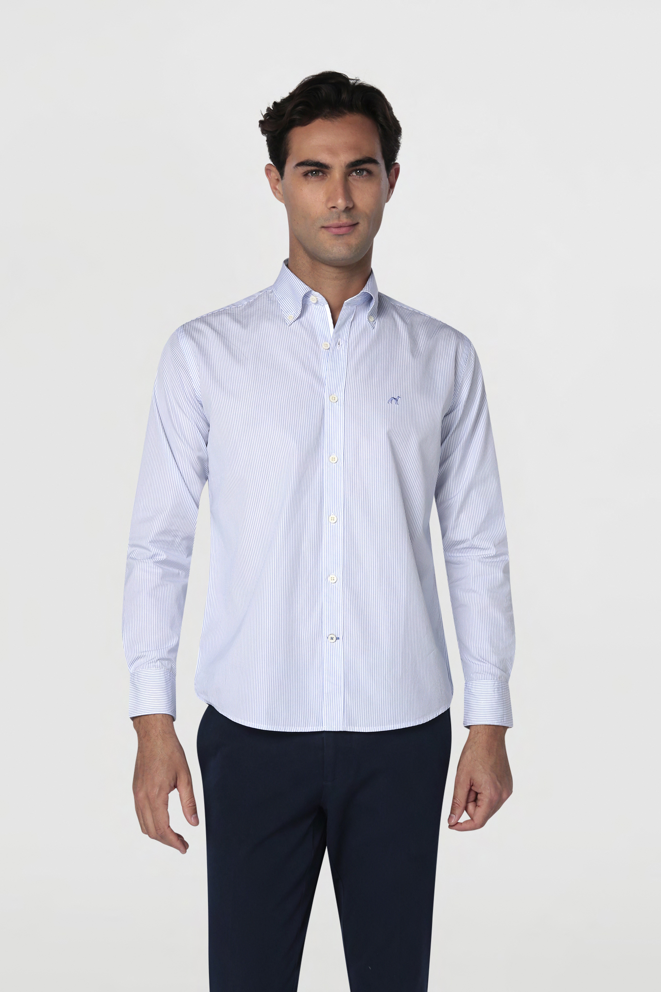 Shirt Light Blue Sport Man