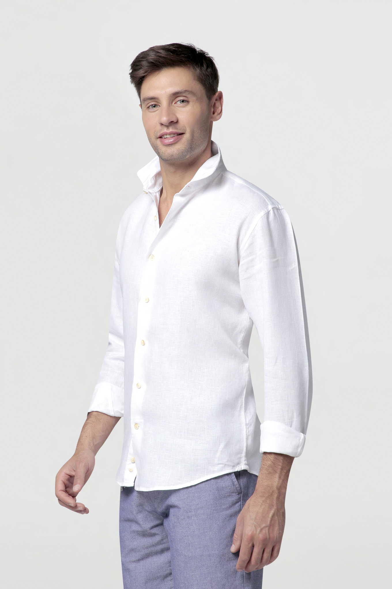 Shirt White Casual Man