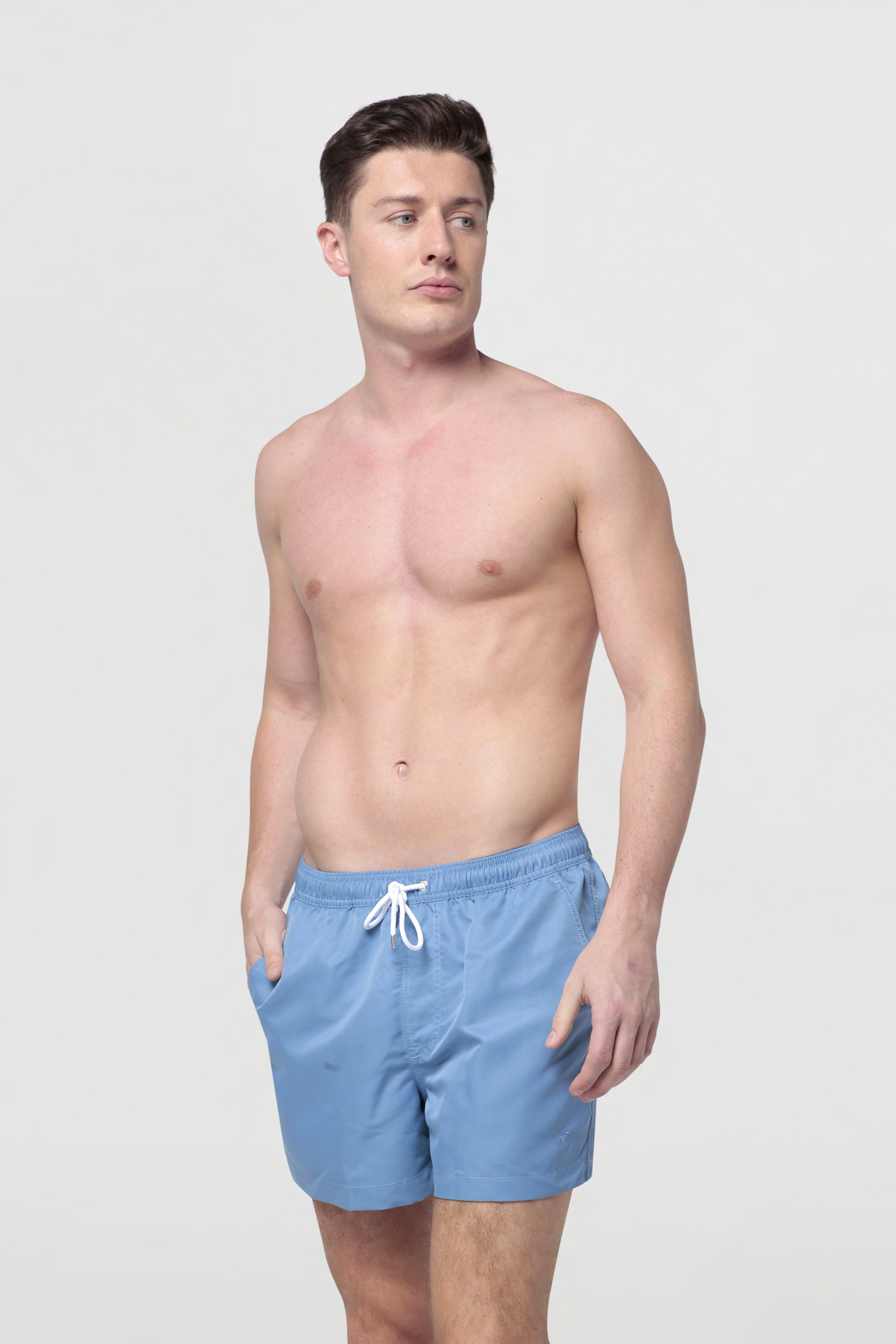 Beachwear Shorts Medium Blue Sport Man